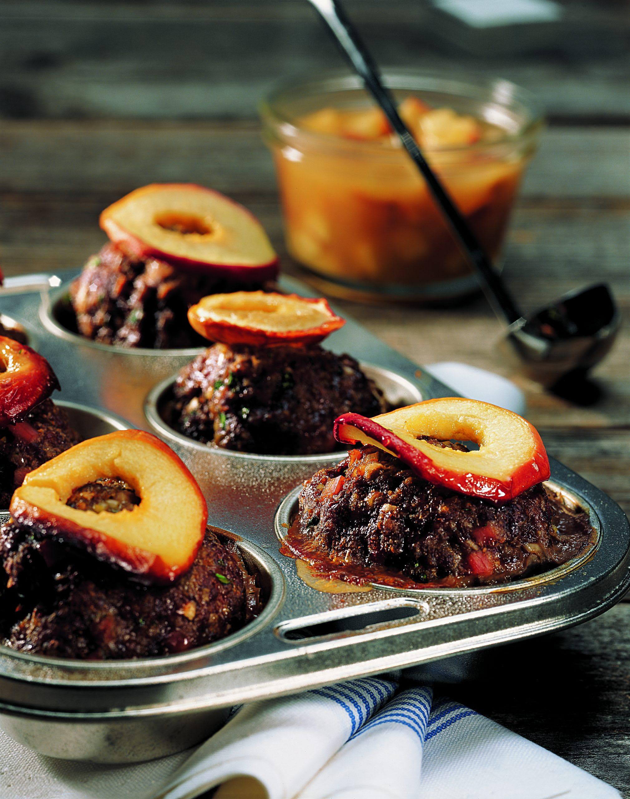 Hack-Muffins an Apfelsauce