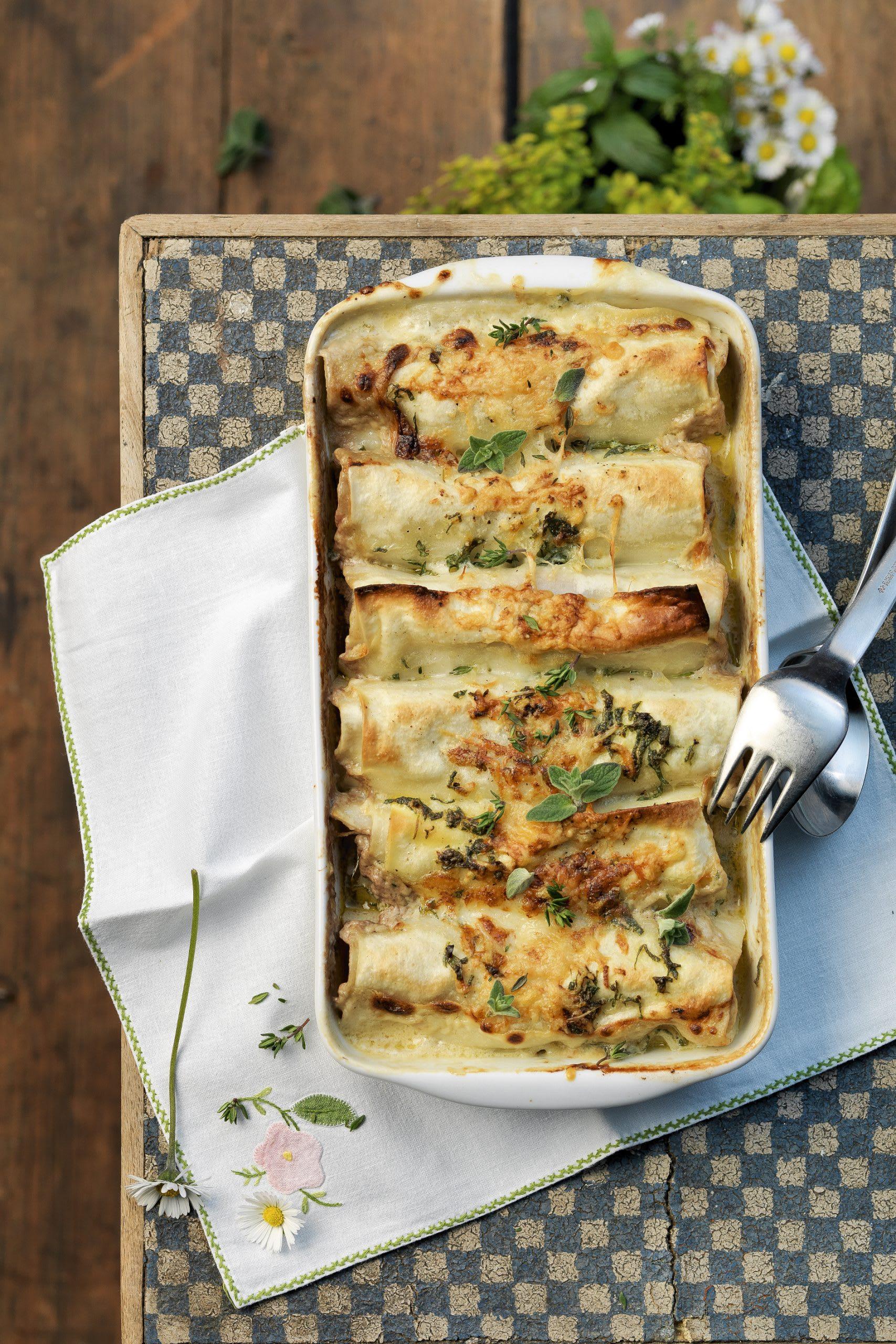 Cannelloni à la viande hachée et aux herbes