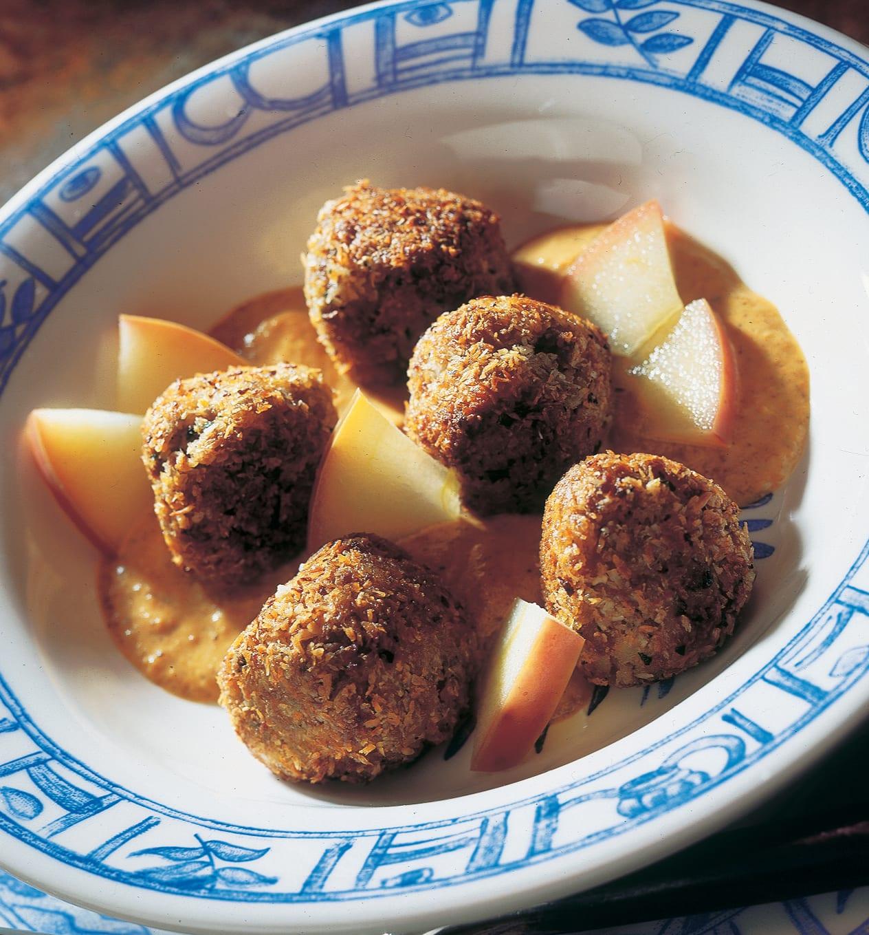Boulettes de viande hachée sauce curry