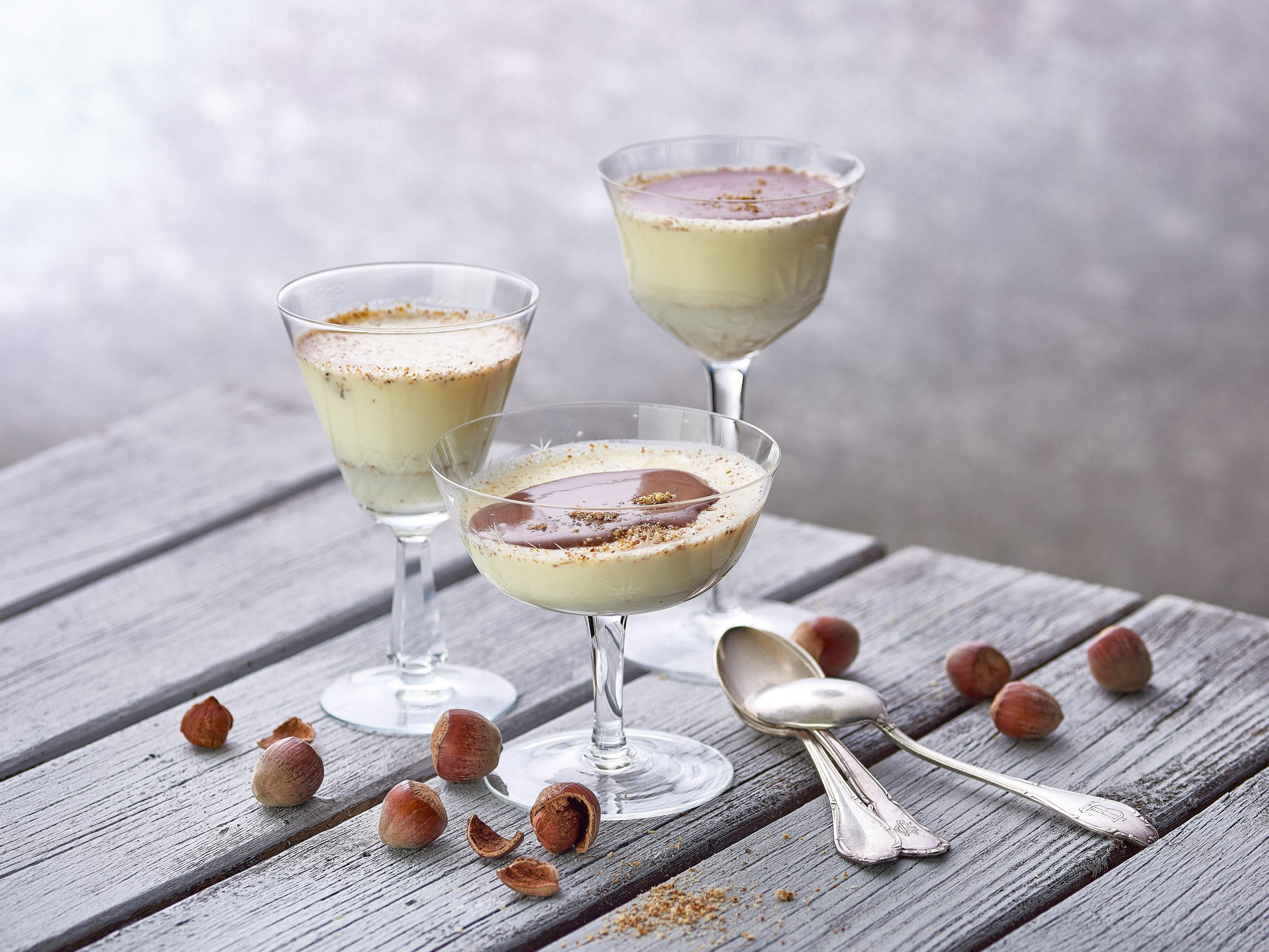 Haselnuss-Panna-cotta
