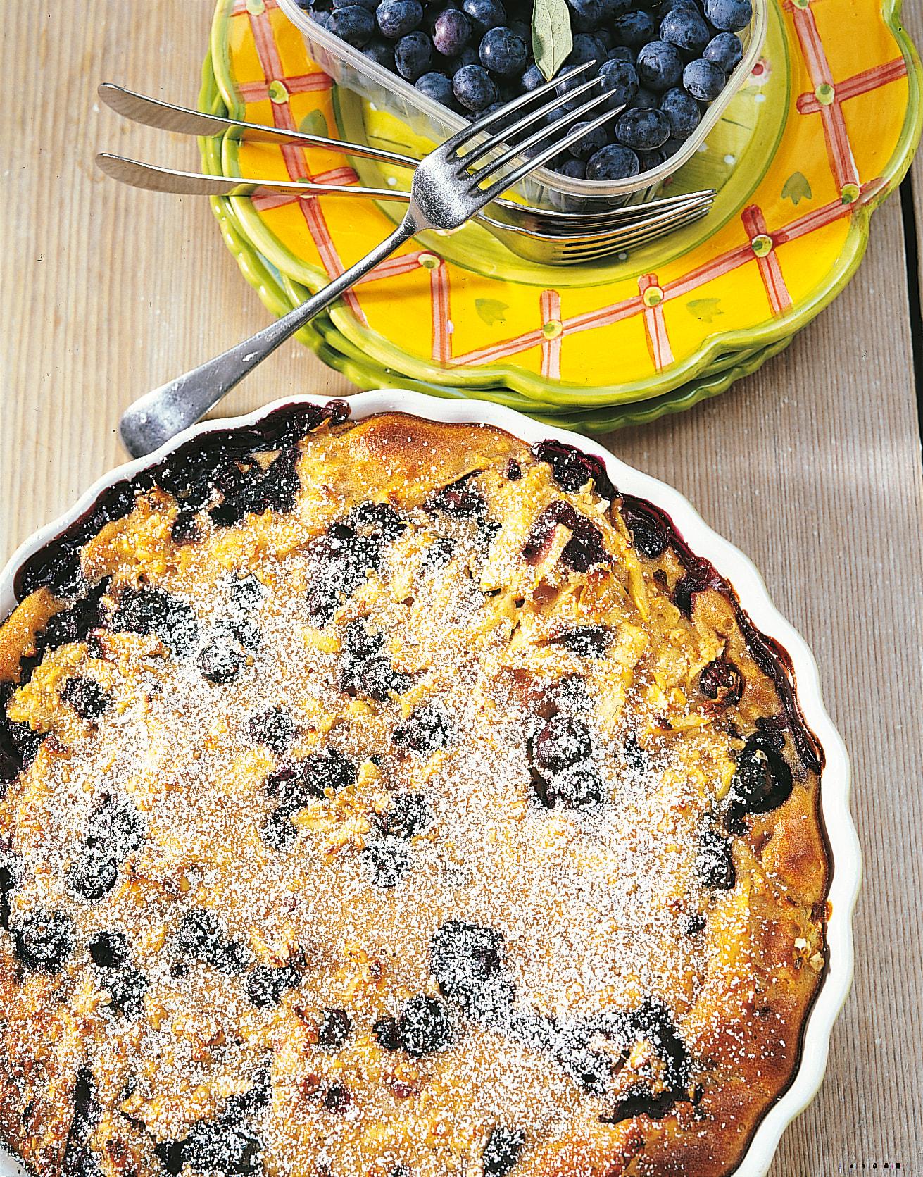 Heidelbeer-Apfel-Clafoutis