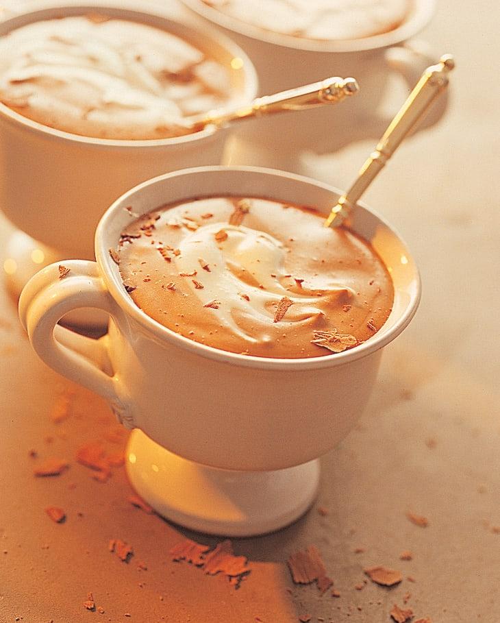 Crème au chocolat marbrée
