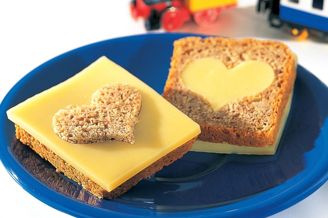 Herz-Käsebrot