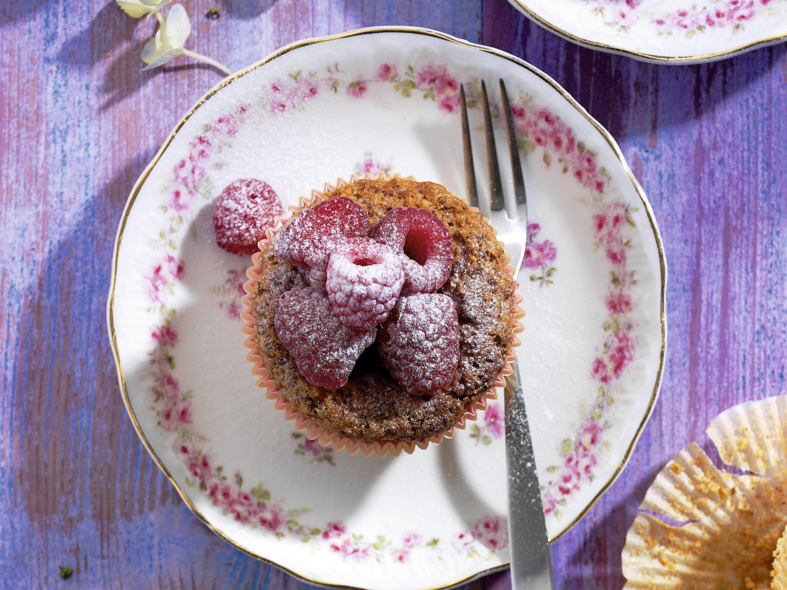 Muffins de Linz aux framboises