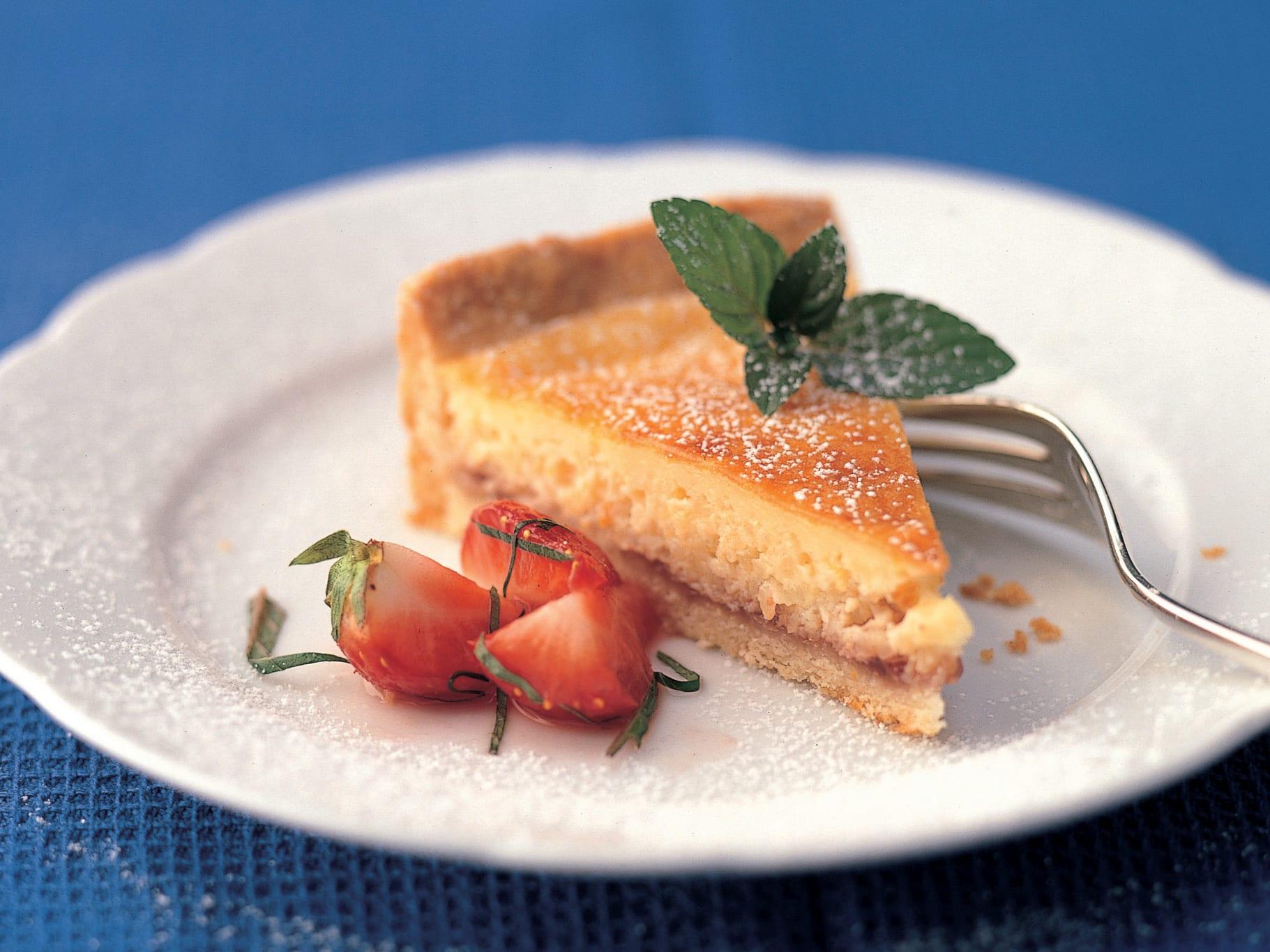 Gâteau de millet aux fraises