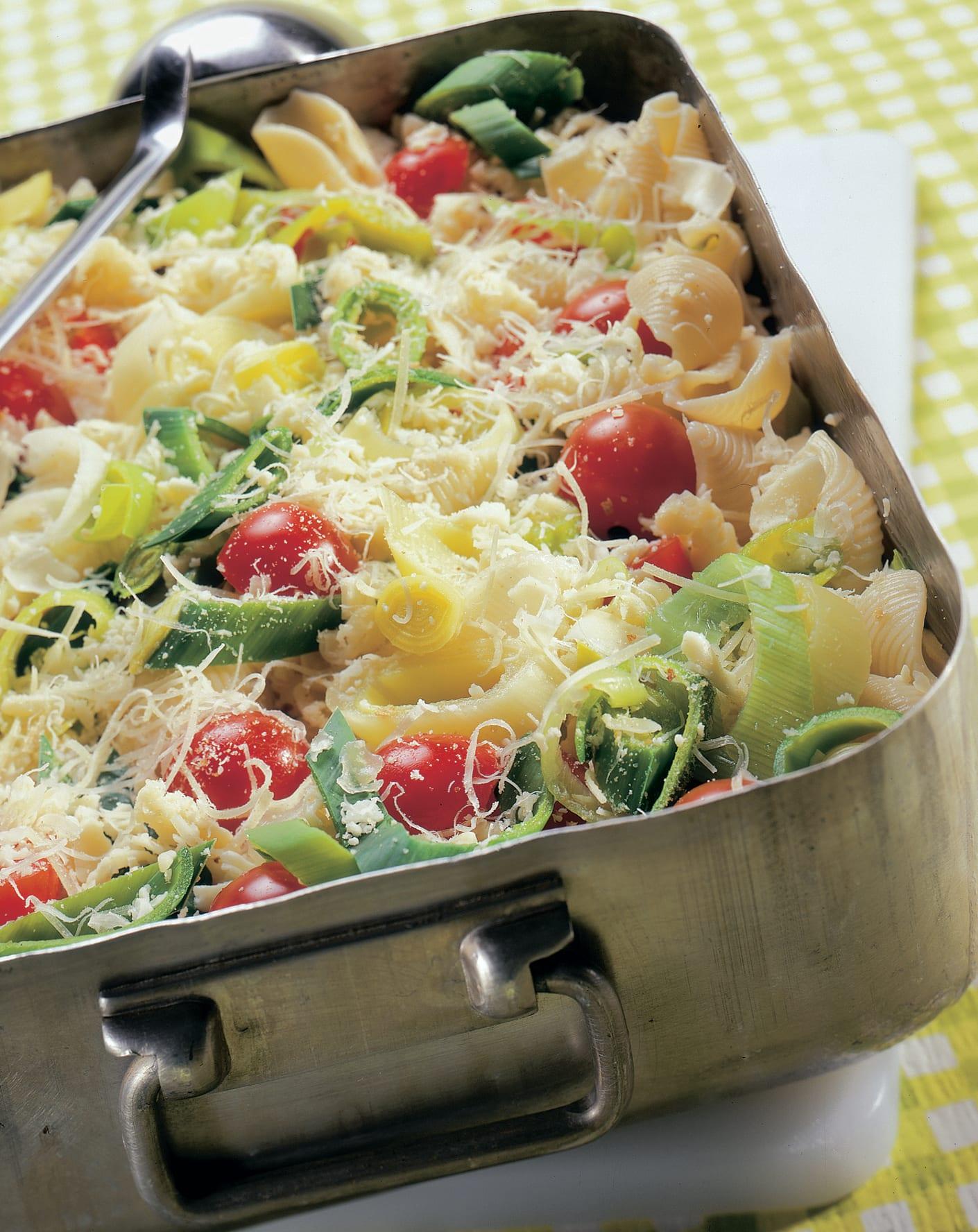 Gratin de pâtes aux légumes