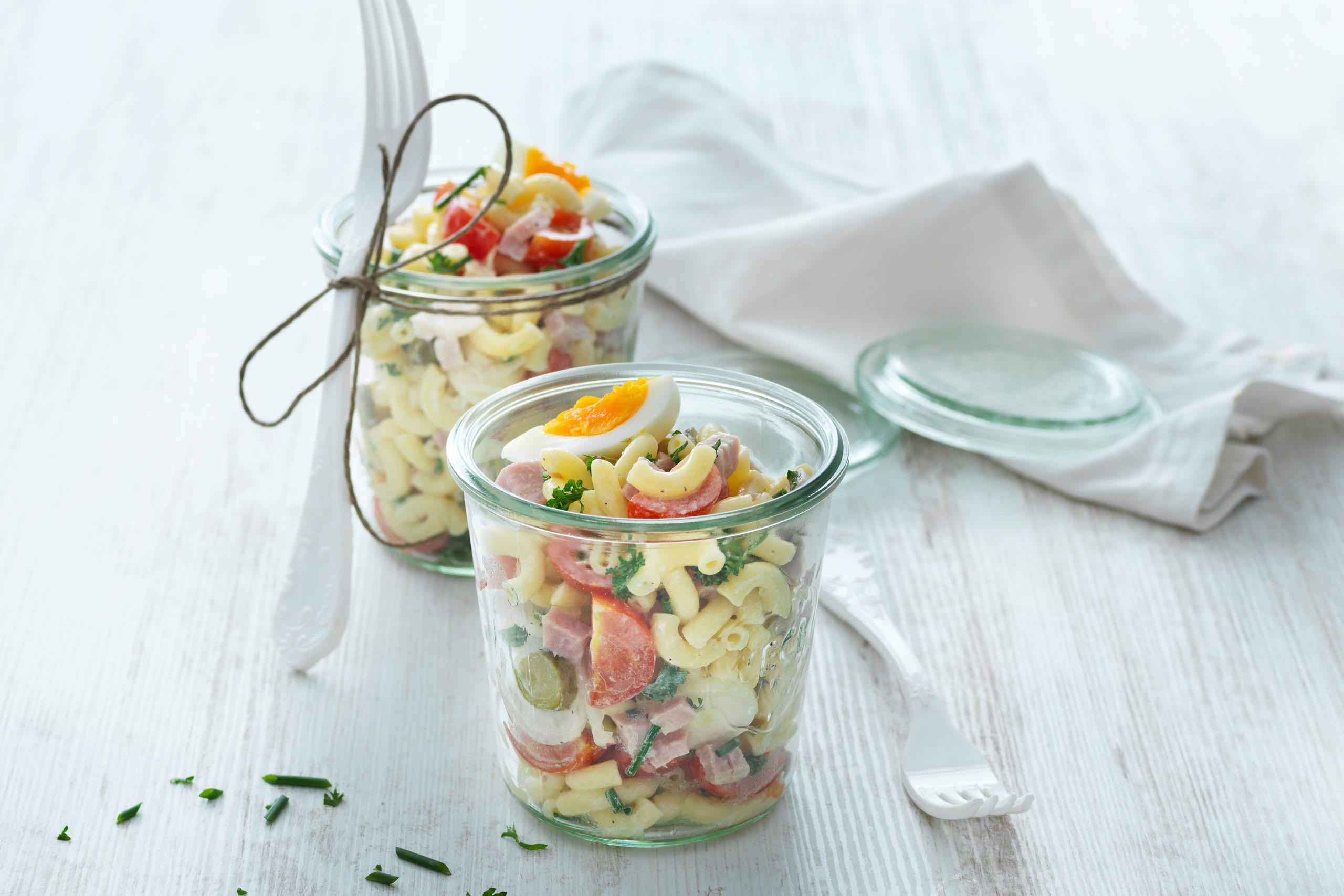 Salade de cornettes garnie