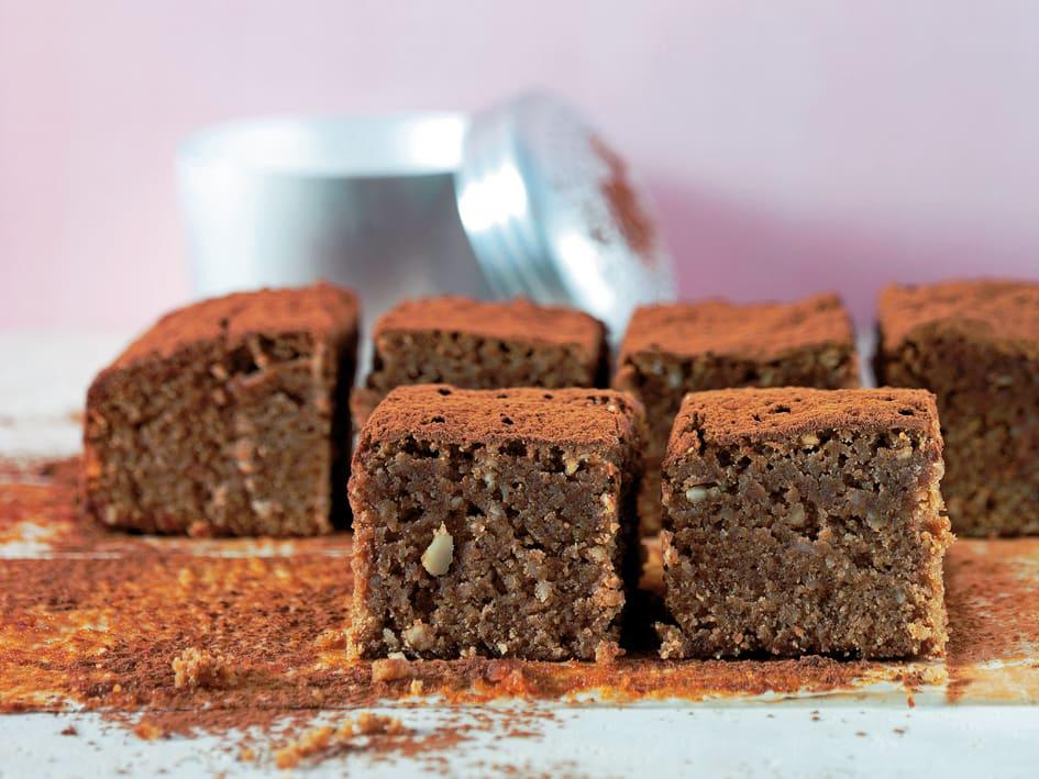 Brownies aux amandes, au miel et au Toblerone
