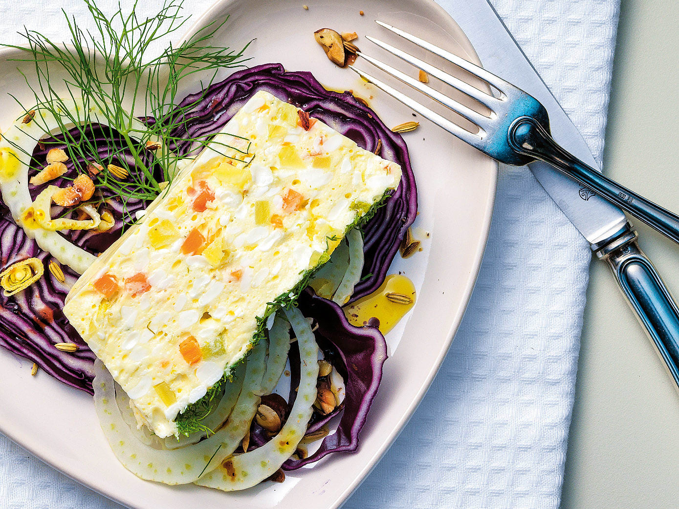 Terrine de cottage cheese au fenouil