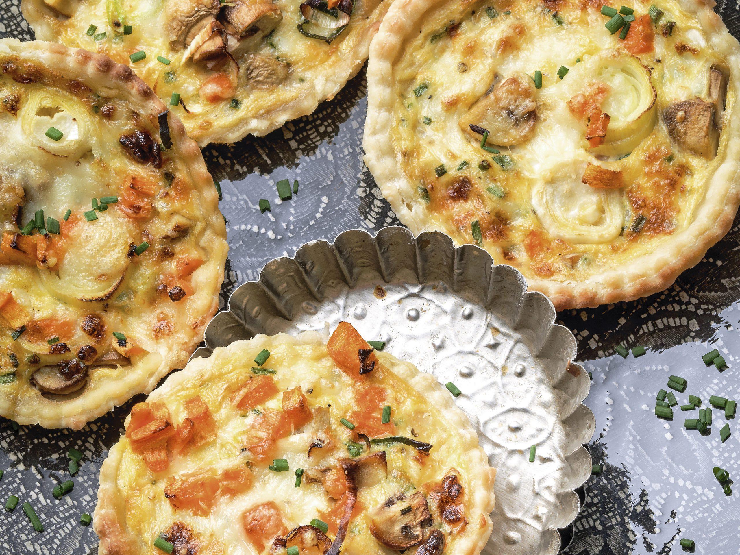 Tartelettes aux légumes et au cottage cheese