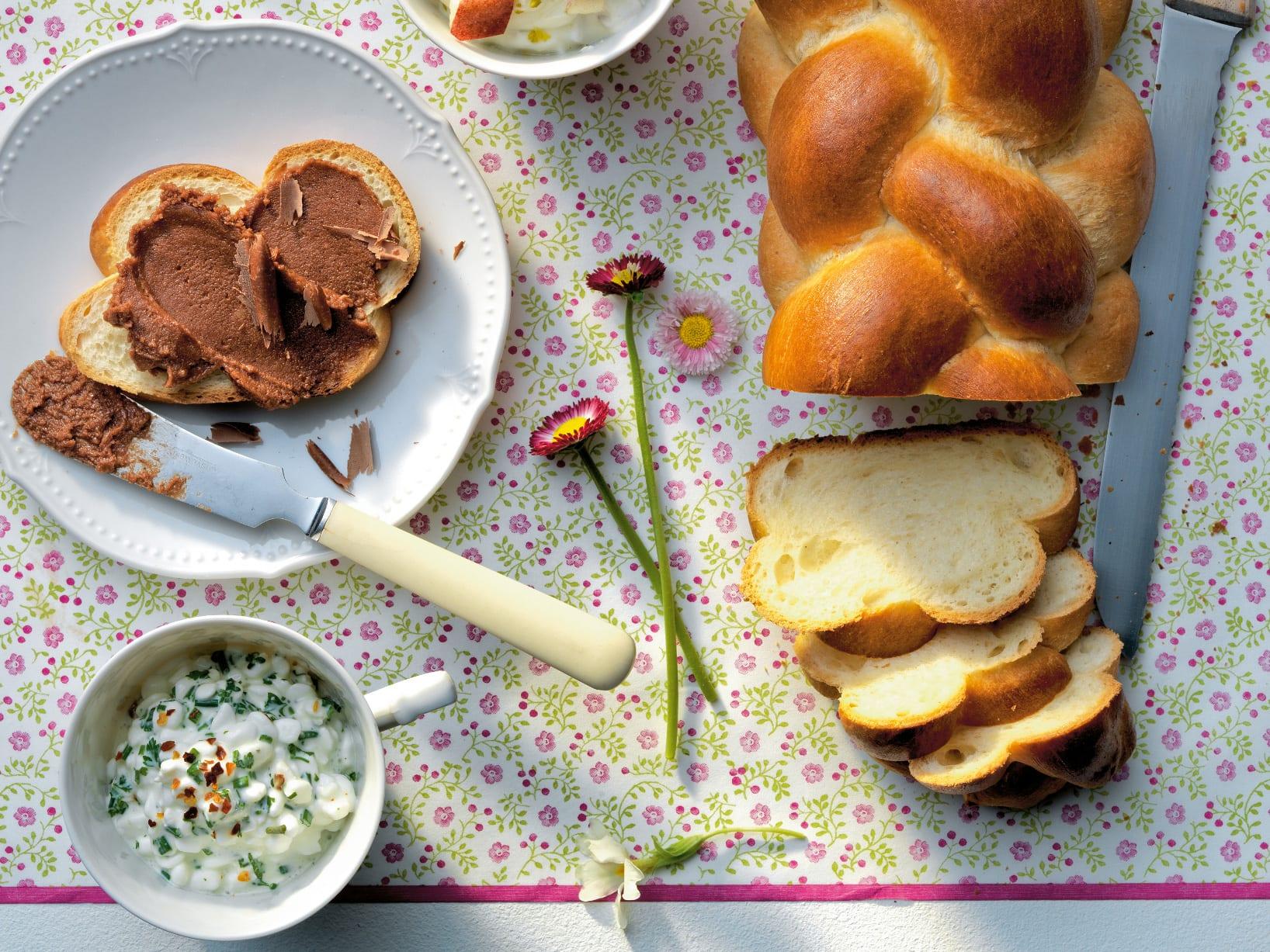Hüttenkäse-Häubchen