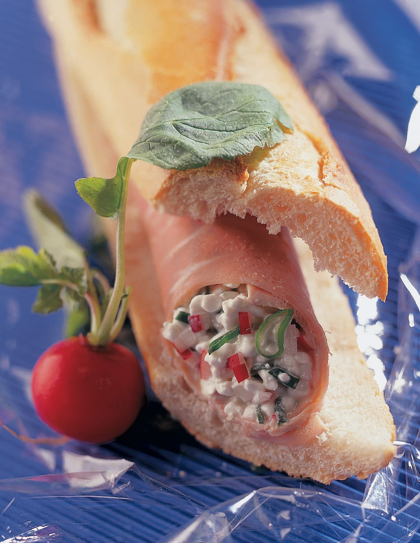Sandwich au cottage cheese