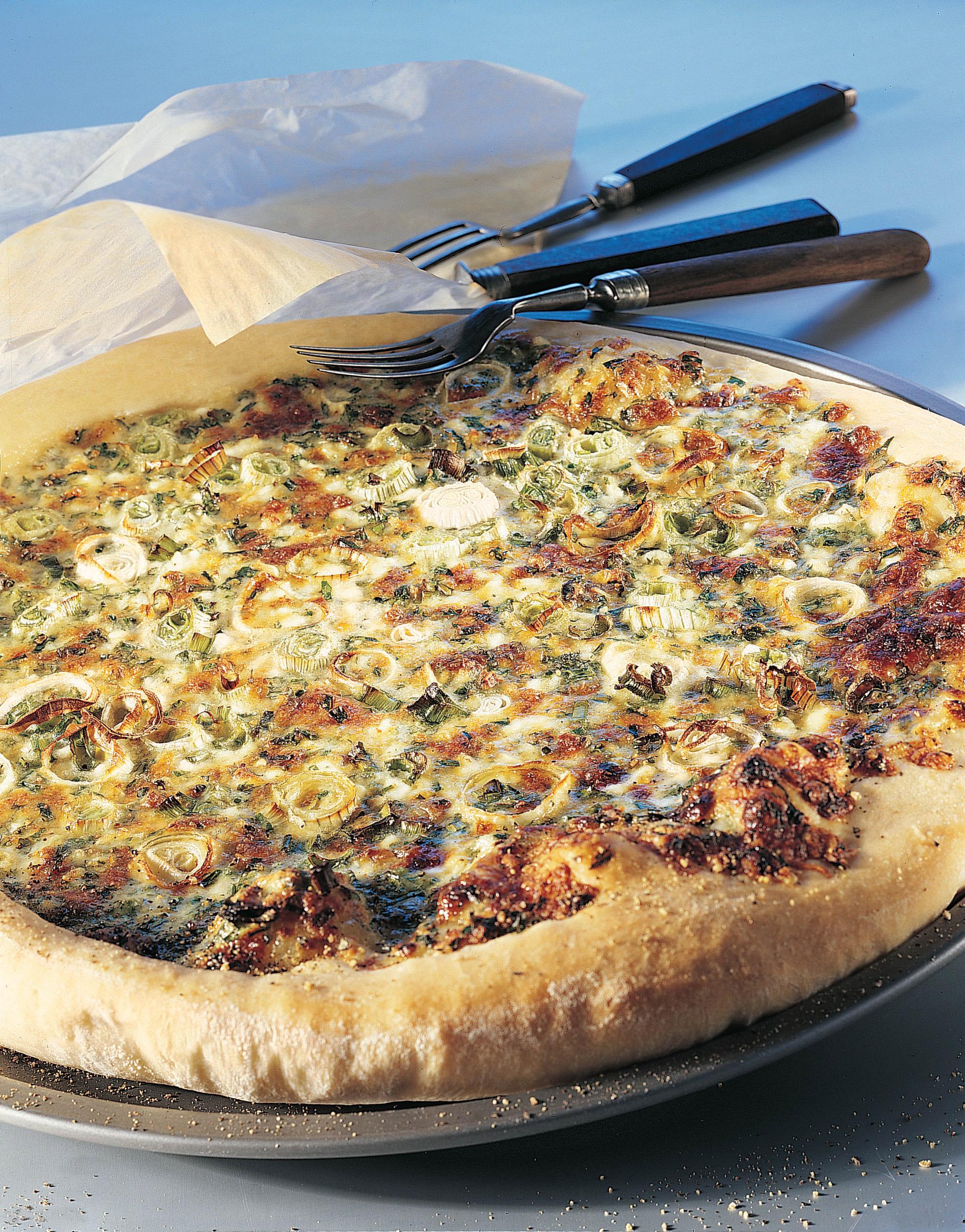 Hüttenkäse-Pizza