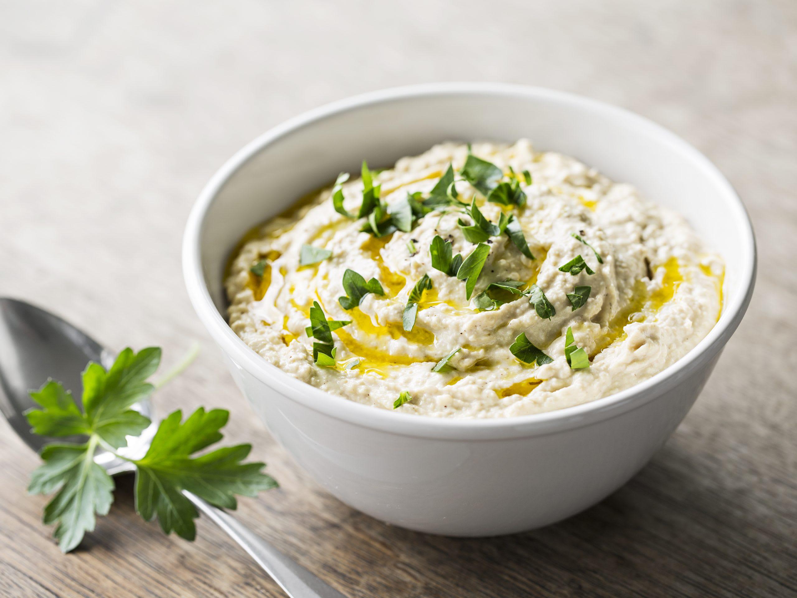 Hummus mit Joghurt (Fondue Chinoise oder Dip)
