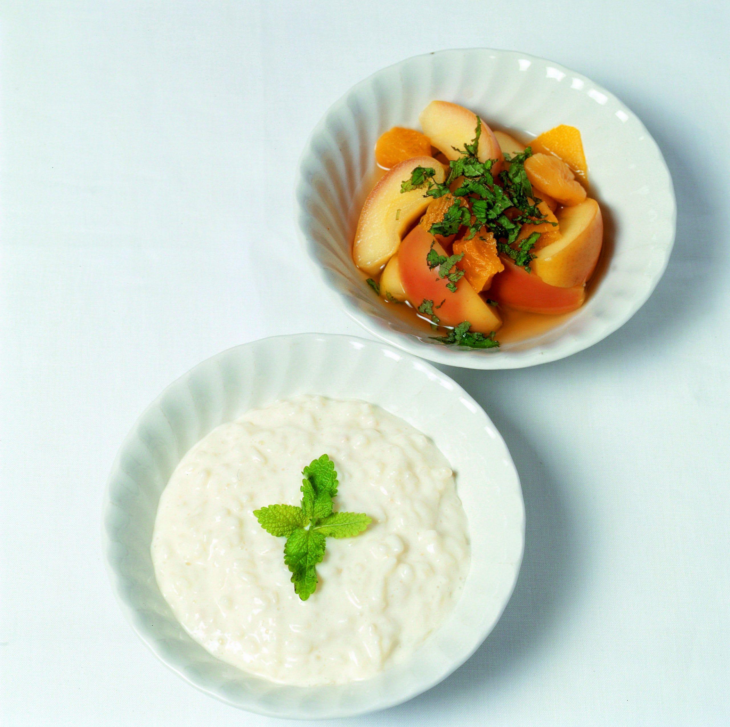 Joghurt-Reis mit Apfel-Kompott