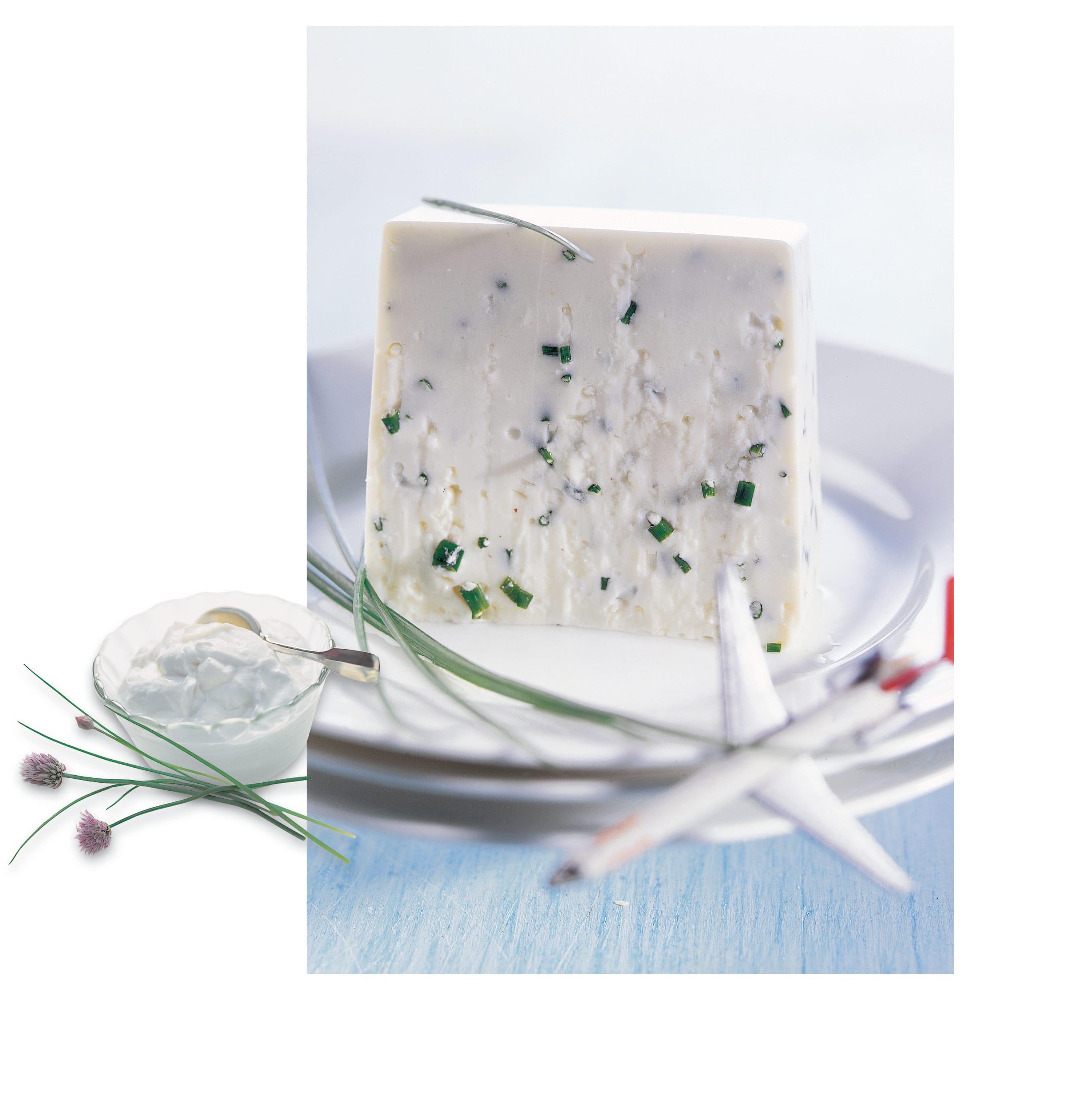 Joghurt-Terrine mit Schnittlauch