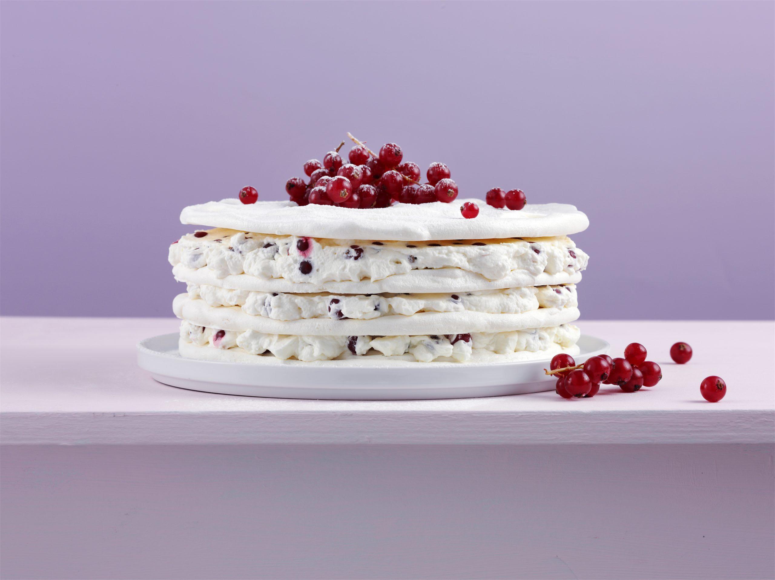 Gâteau à la meringue et aux raisinets
