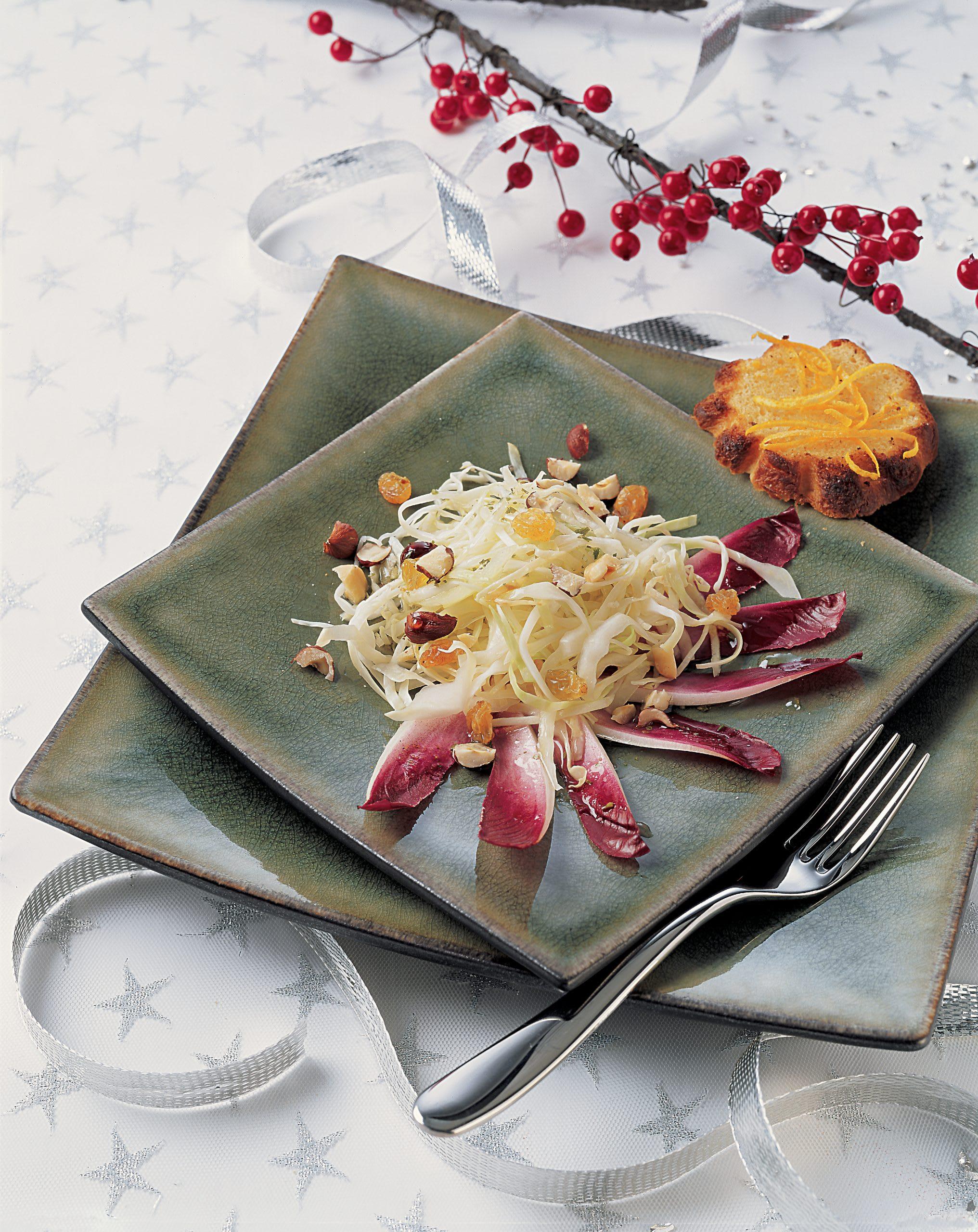 Kabissalat mit Brioche-Toast