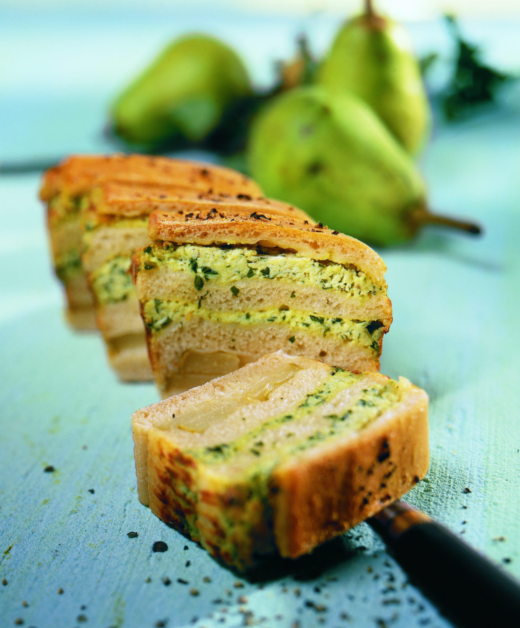 Käse-Birnen-Cakes