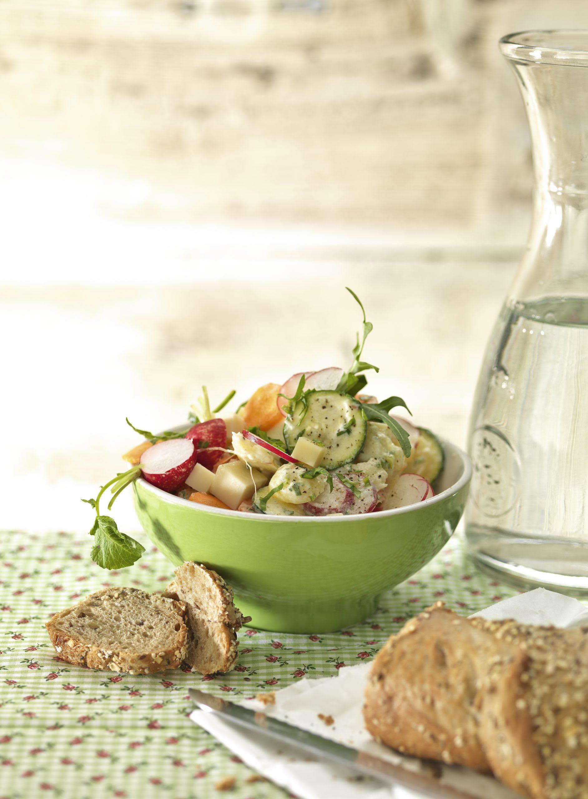 Salade de pommes de terre au fromage