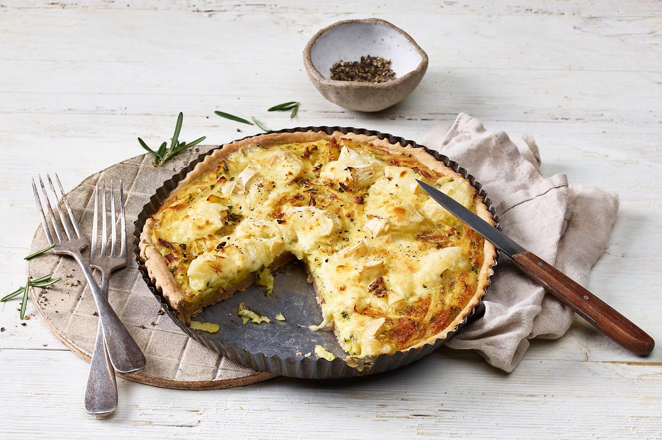Tarte aux pommes de terre et au fromage
