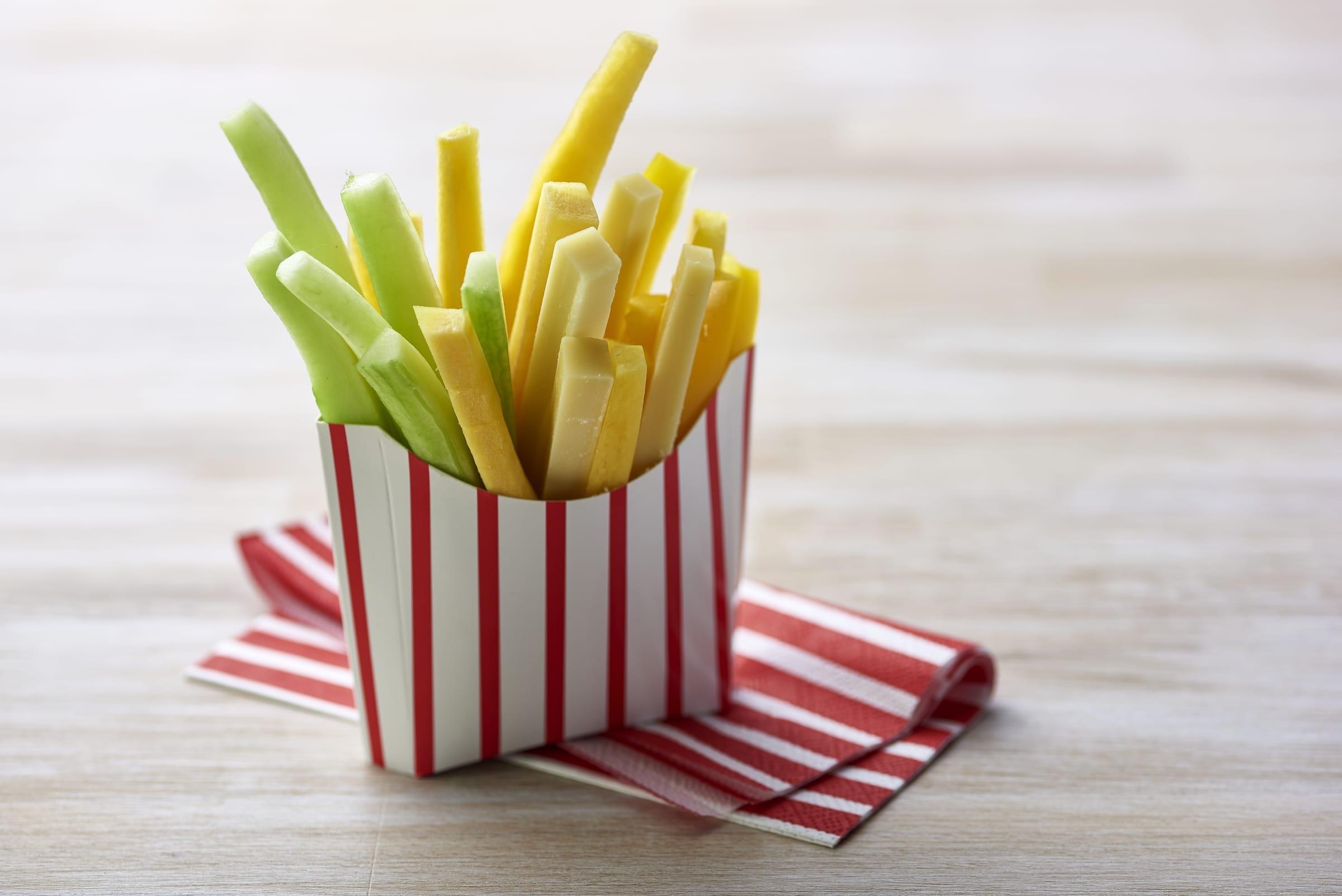 Käse- und Gemüsesticks