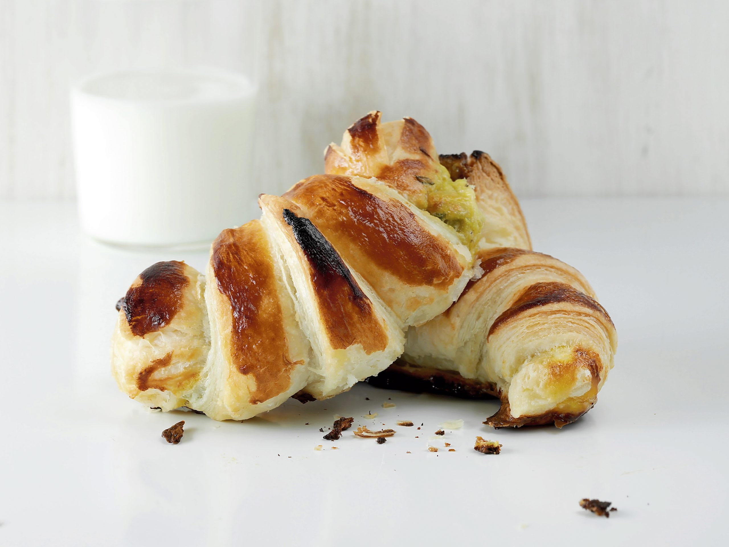 Croissants courgettes-fromage