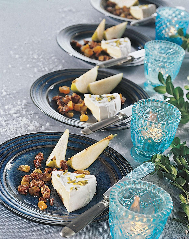 Triangles de fromage et leur tartare de figues