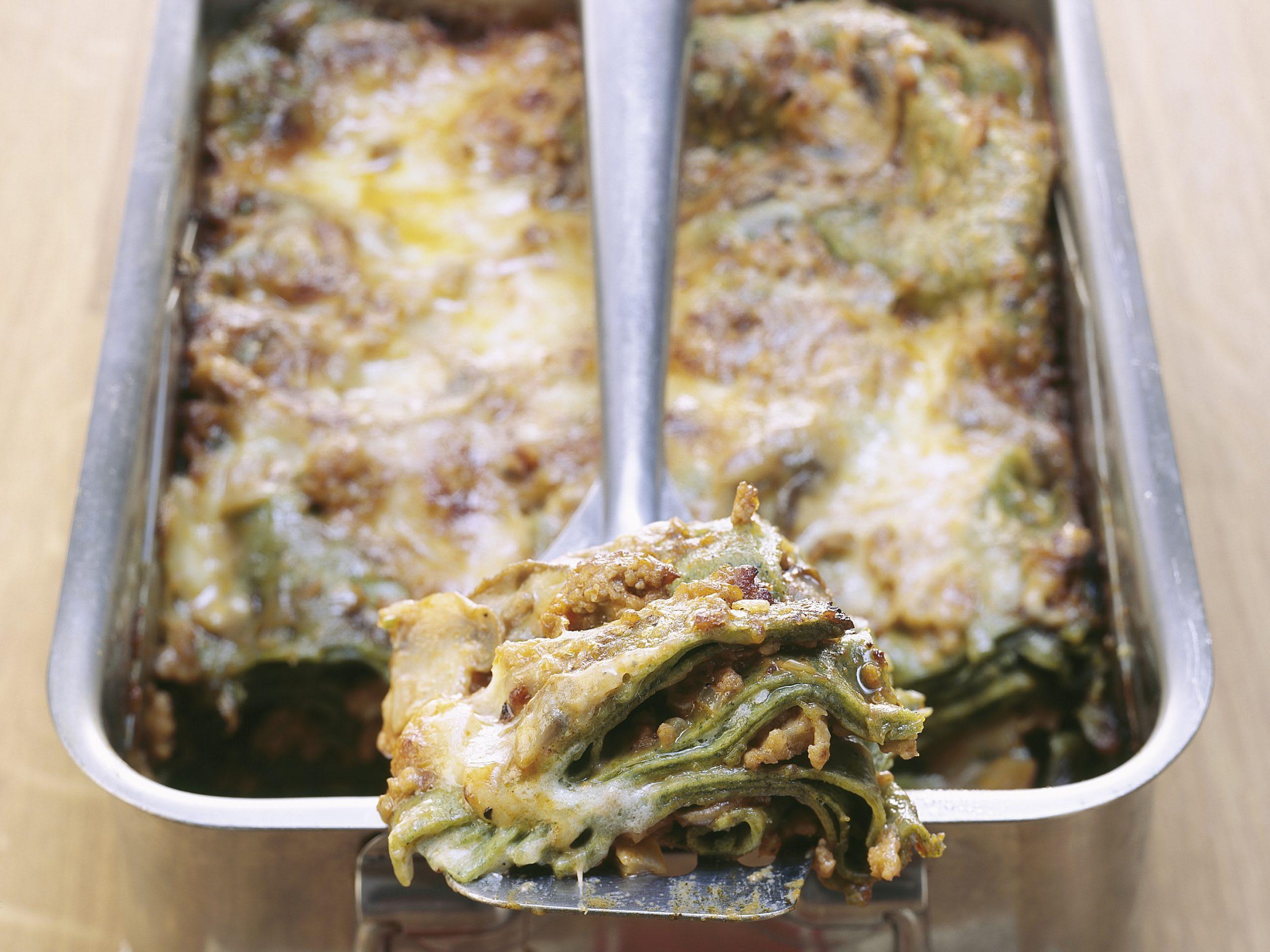Lasagnes au veau et aux champignons de Paris