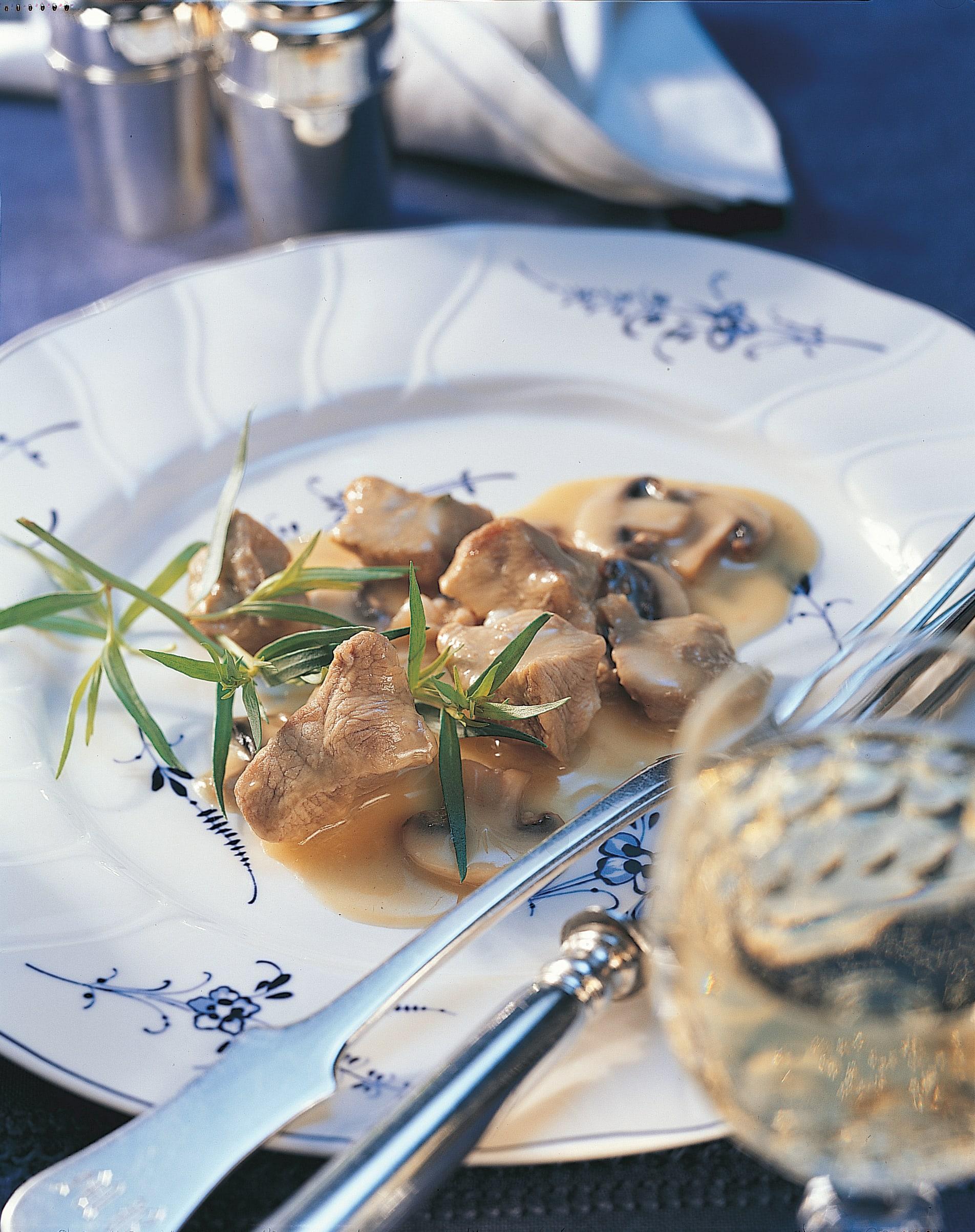 Blanquette de veau aux champignons et à la crème