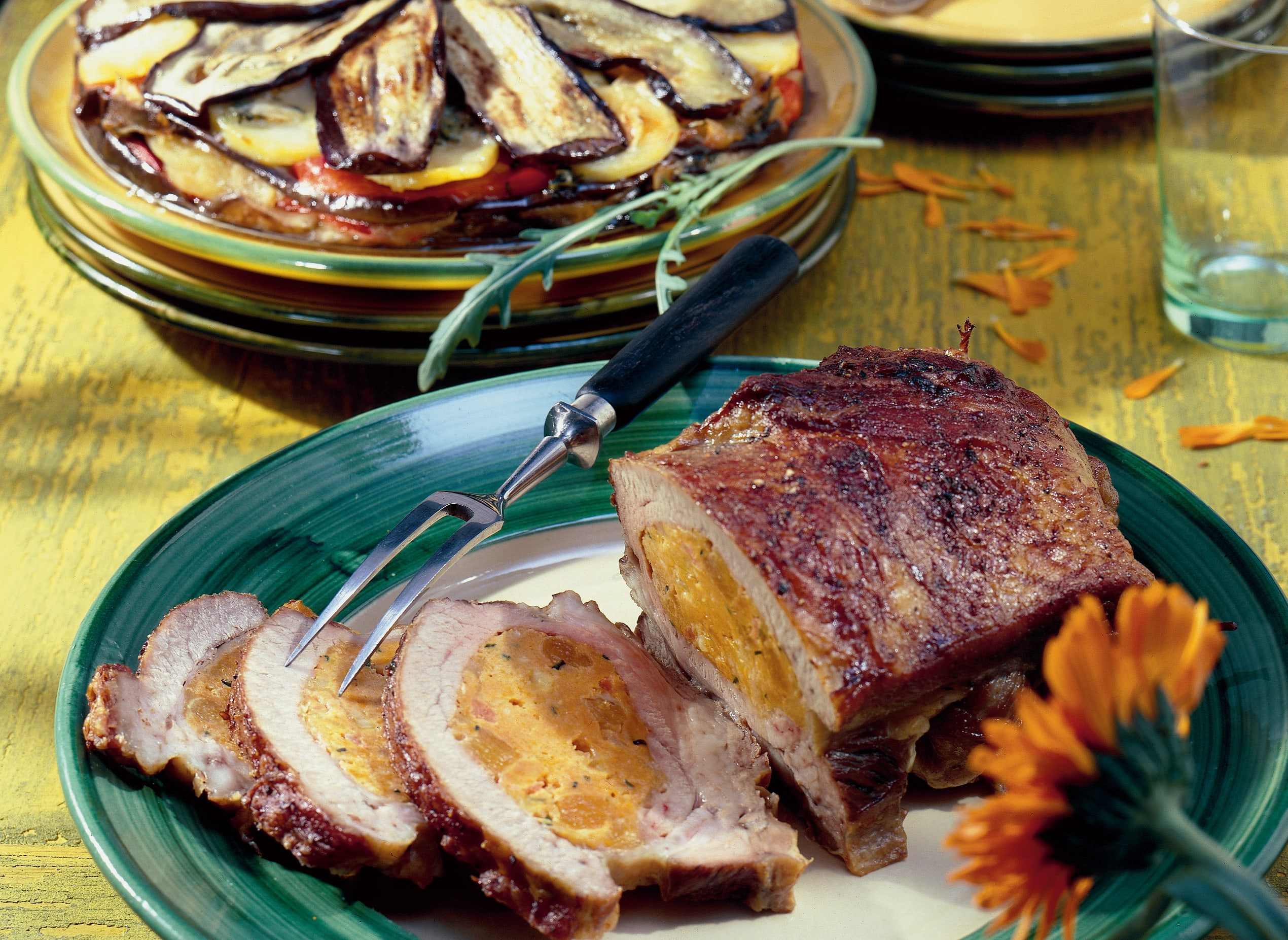 Kalbsbrust mit Aprikosen-Mozzarella-Brät-Füllung