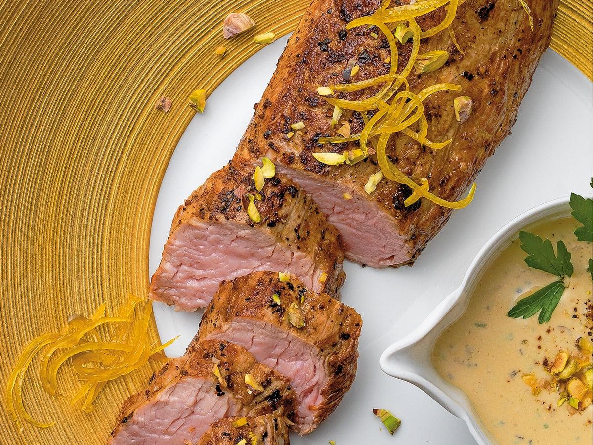Filet de veau sauce pistache
