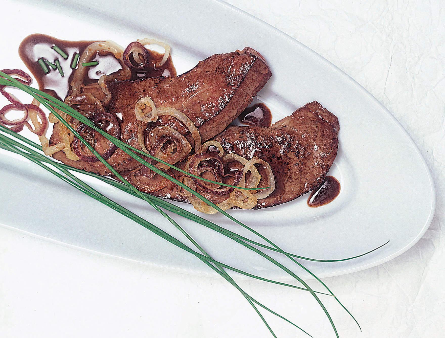 Foie de veau et oignons balsamiques