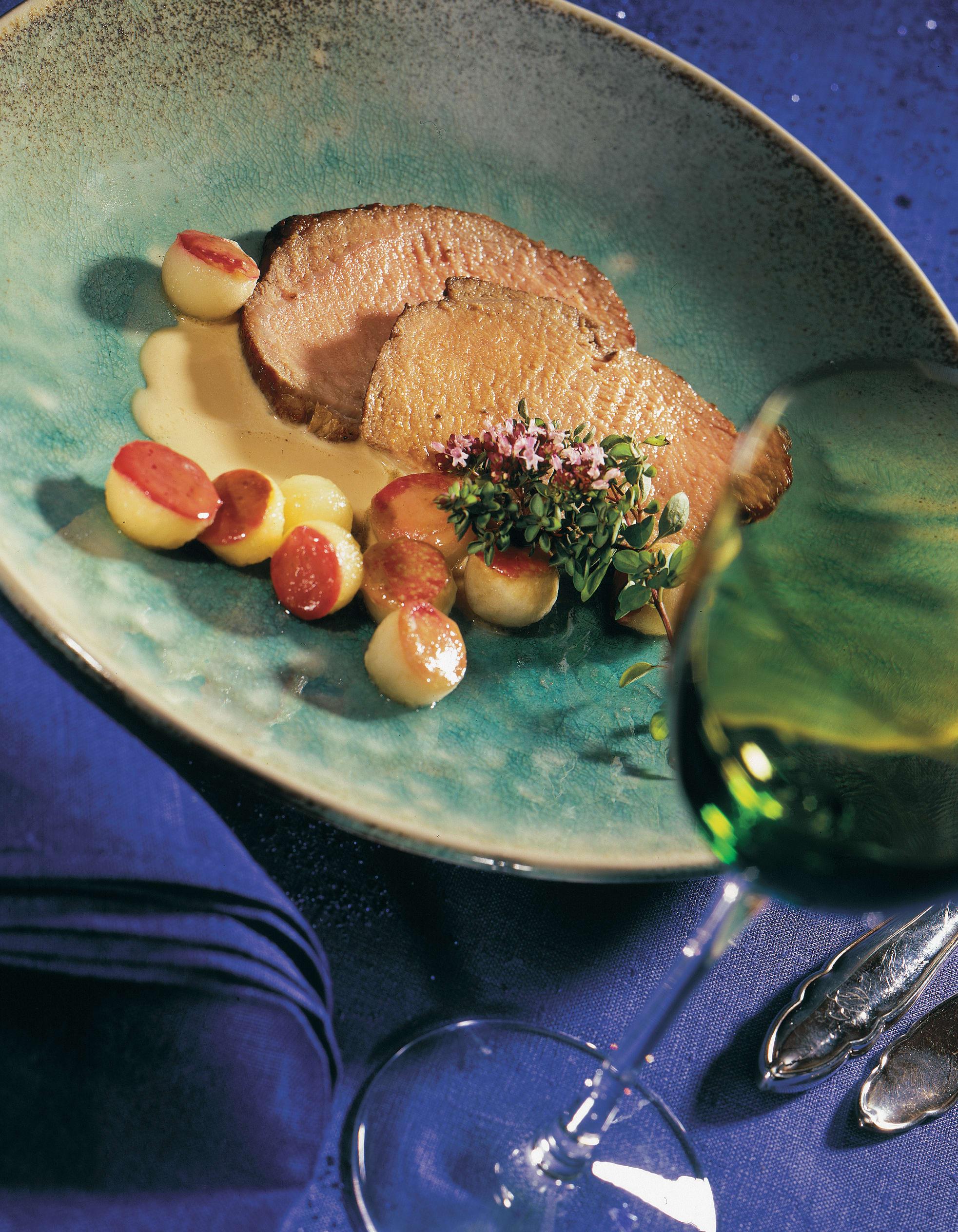 Kalbsnuss an Calvadossauce