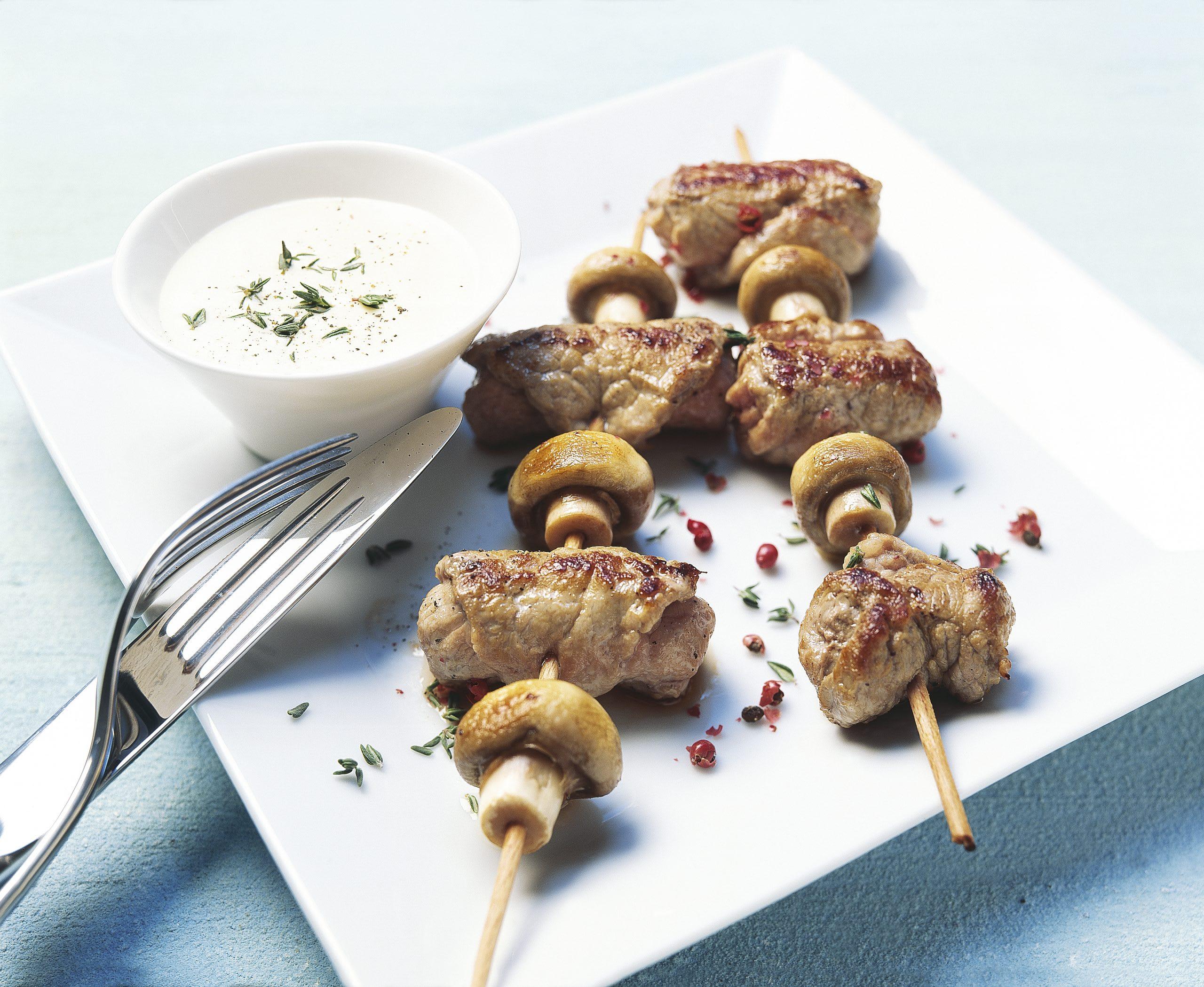 Duo de fricandeaux de veau et de champignons de Paris