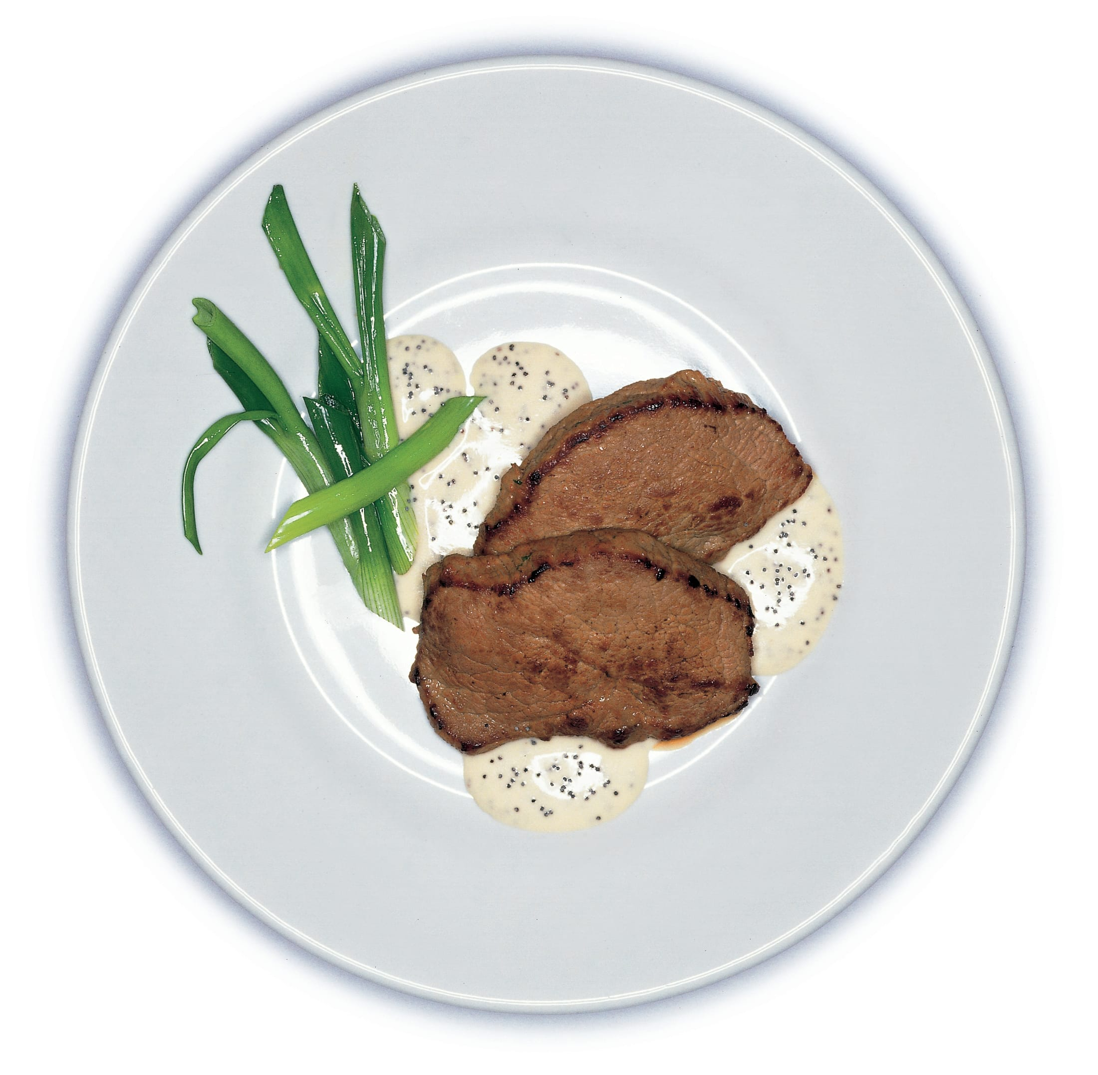 Kalbsschnitzel mit Mohnsauce