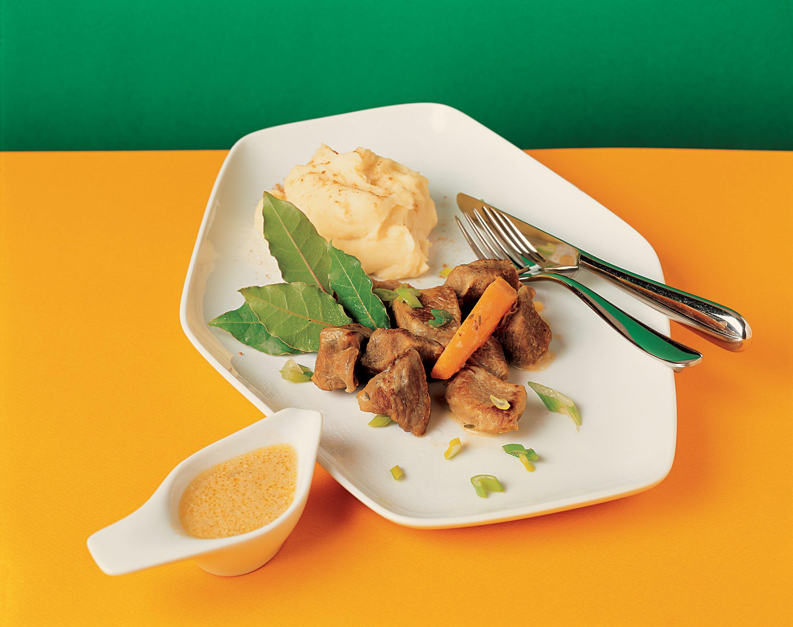Kalbsvoressen und Kartoffelstock