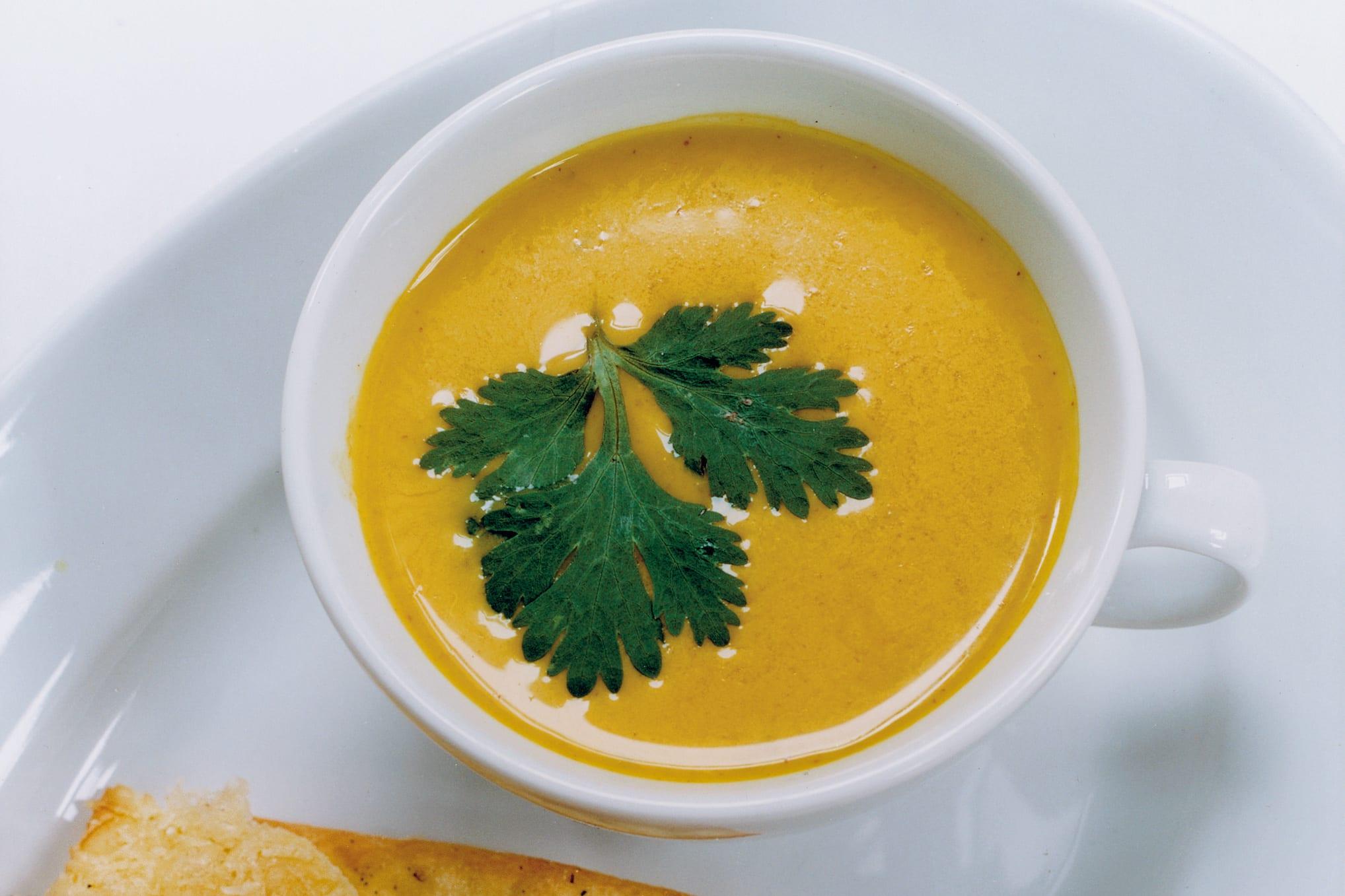 Crème au curry froide