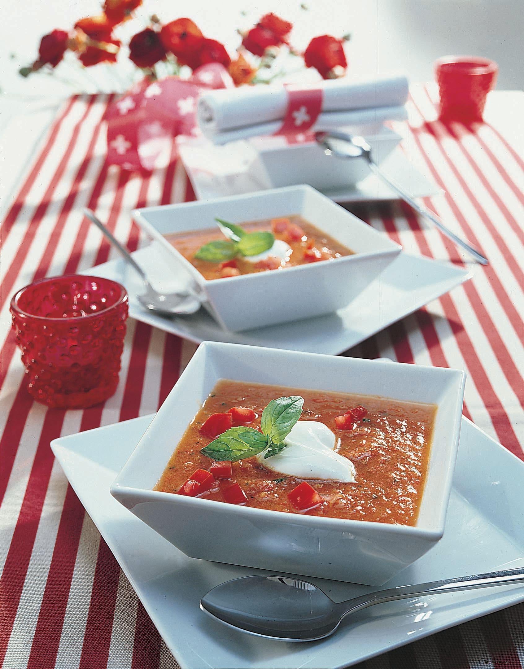 Kalte Peperoni-Gurken-Suppe