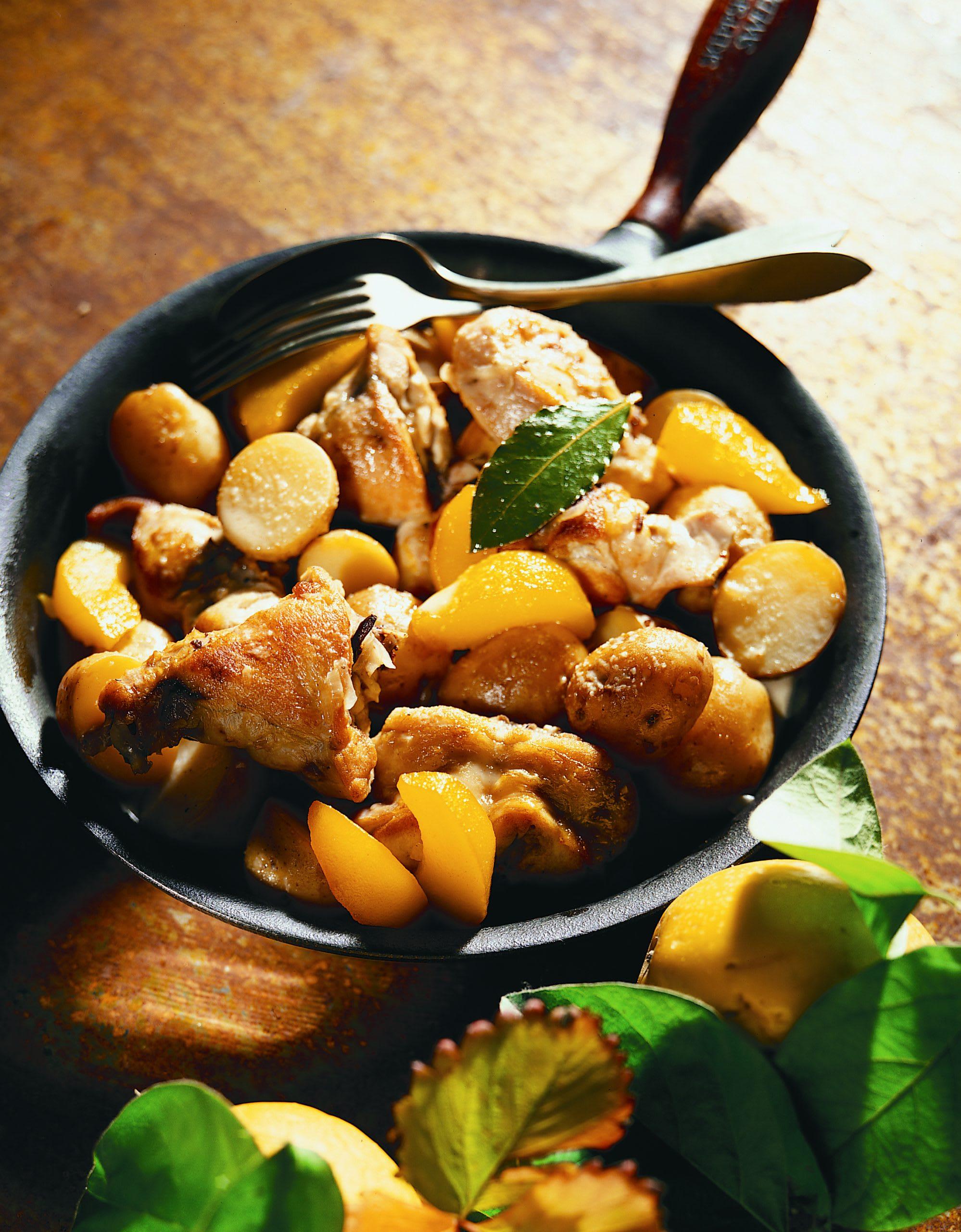 Lapin aux coings et pommes de terre