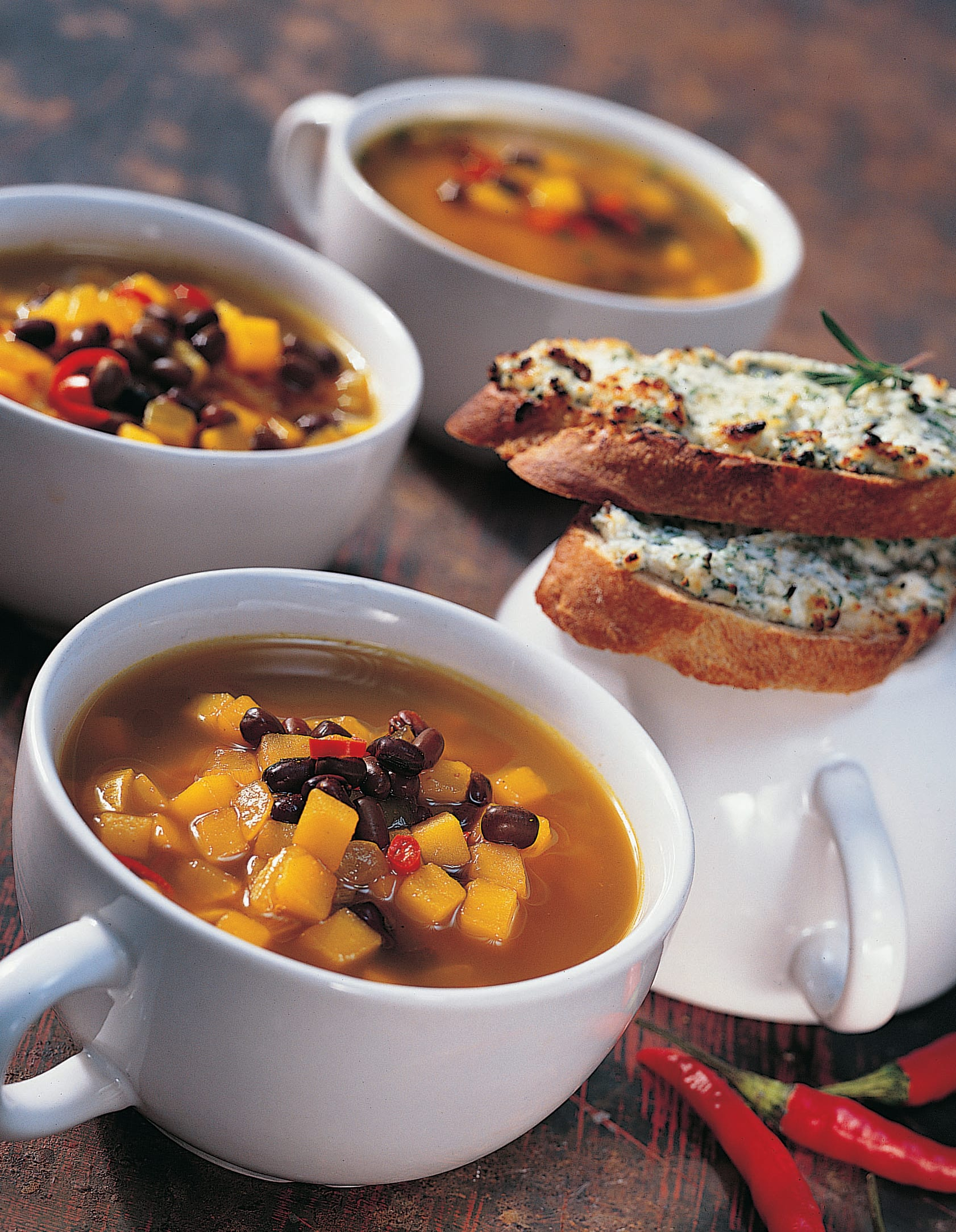 Soupe de pommes de terre et d'azukis