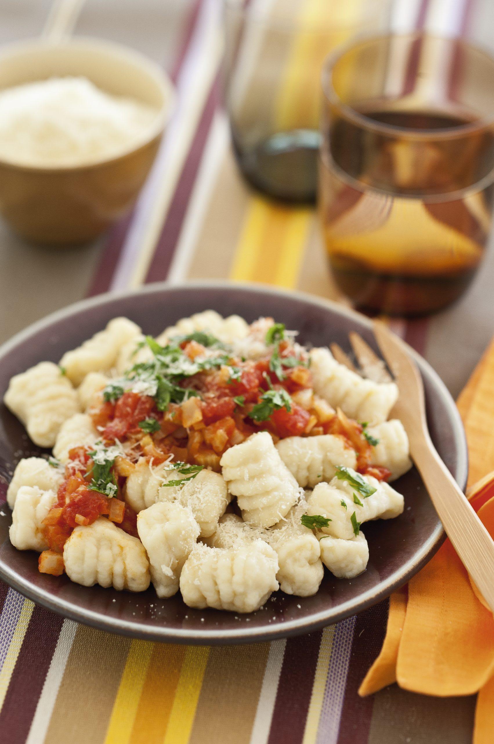 Kartoffel-Gnocchi mit Gemüsesauce