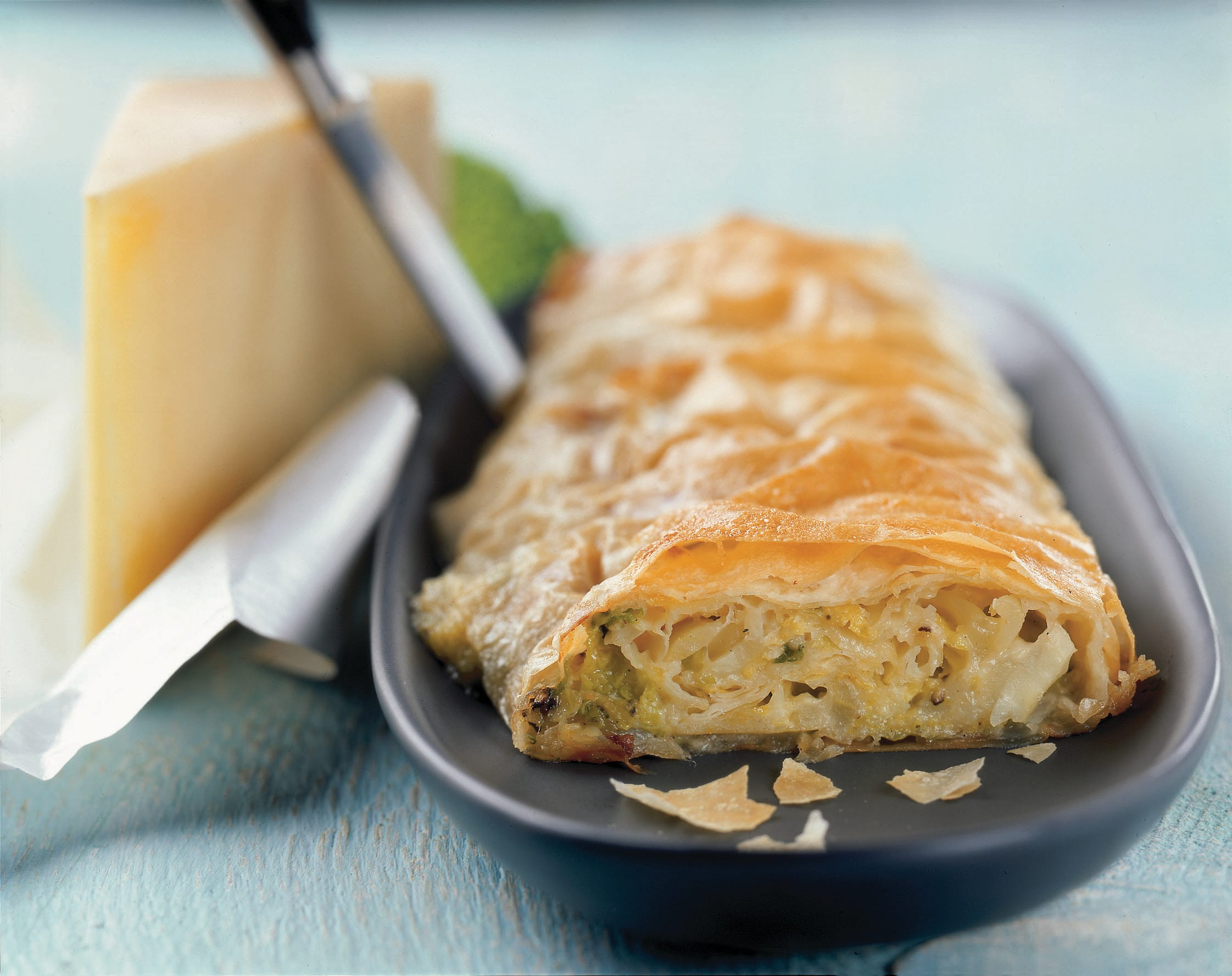 Kartoffel-Wirsing-Strudel