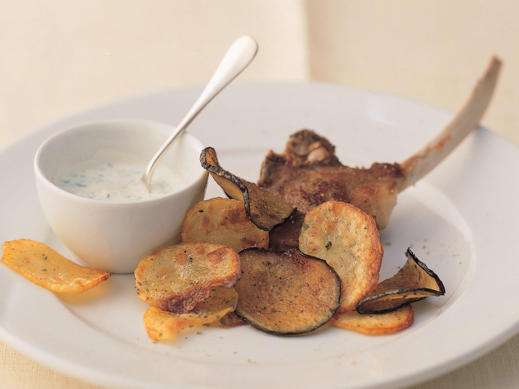Pommes de terre et aubergines au yogourt