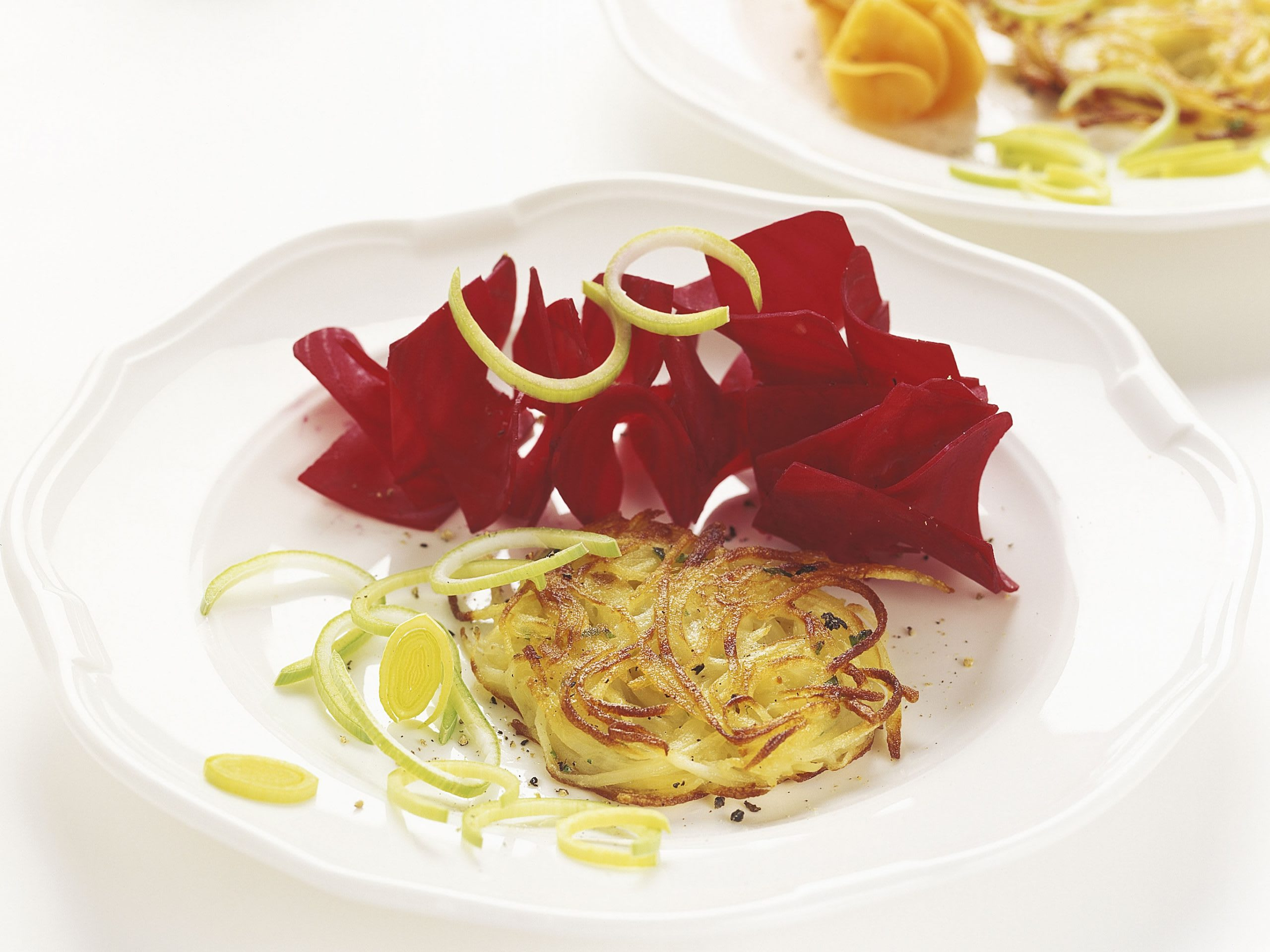 Galettes de pommes de terre légumes fantaisie