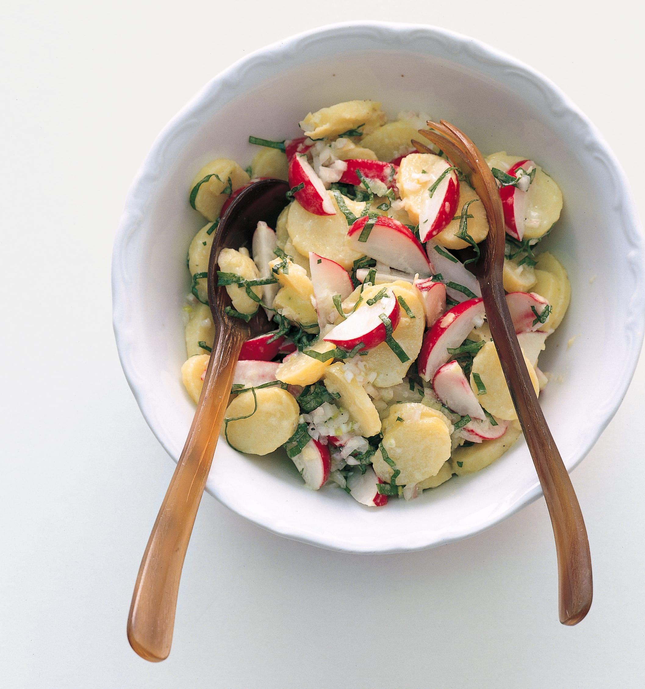 Kartoffelsalat an Bärlauch-Vinaigrette
