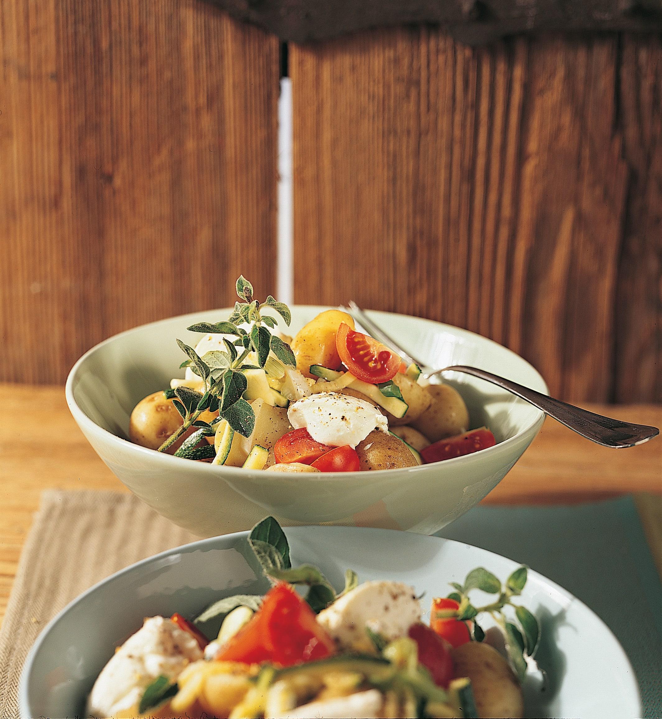 Salade de pommes de terre au fromage frais