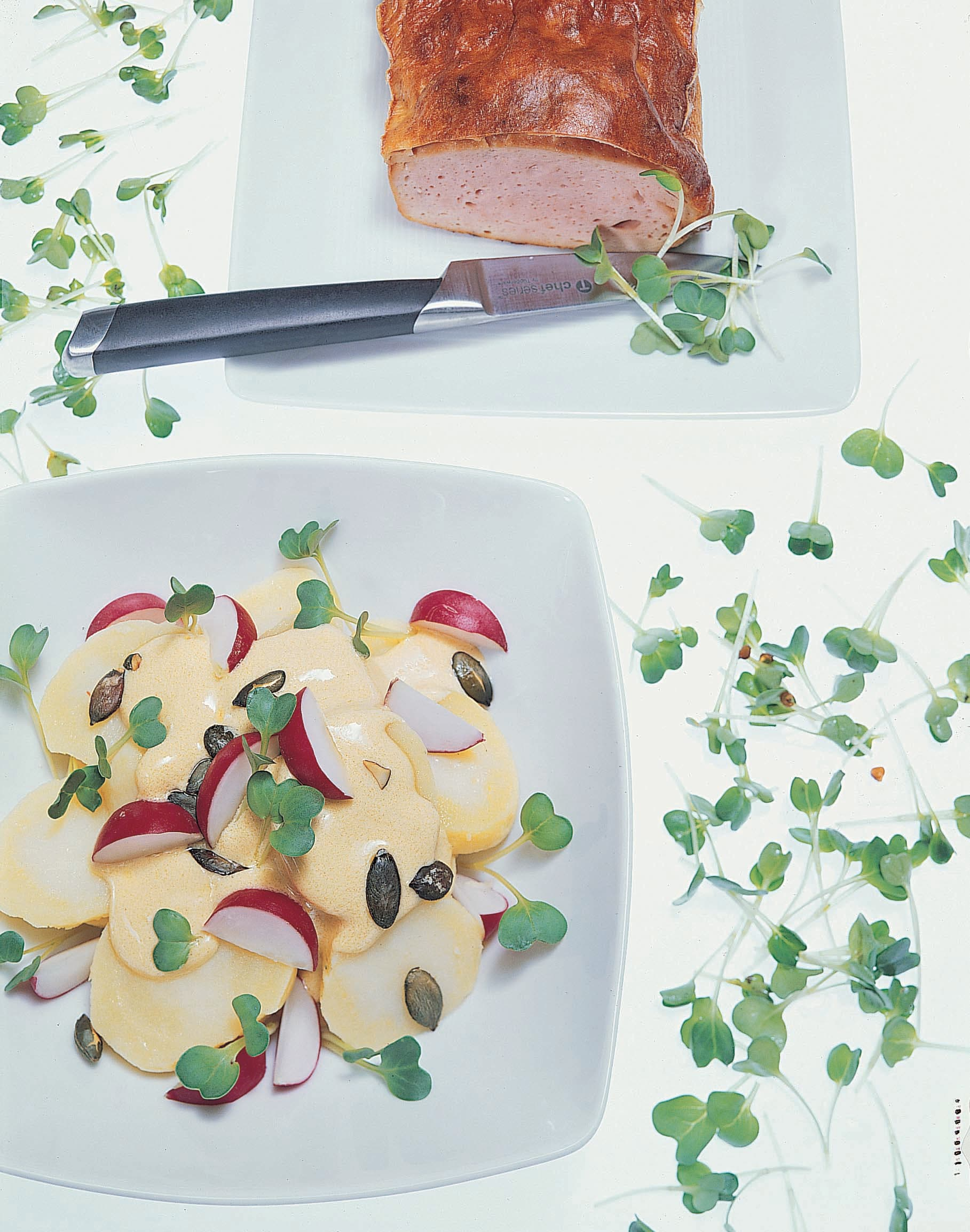 Kartoffelsalat mit Rucolasprossen