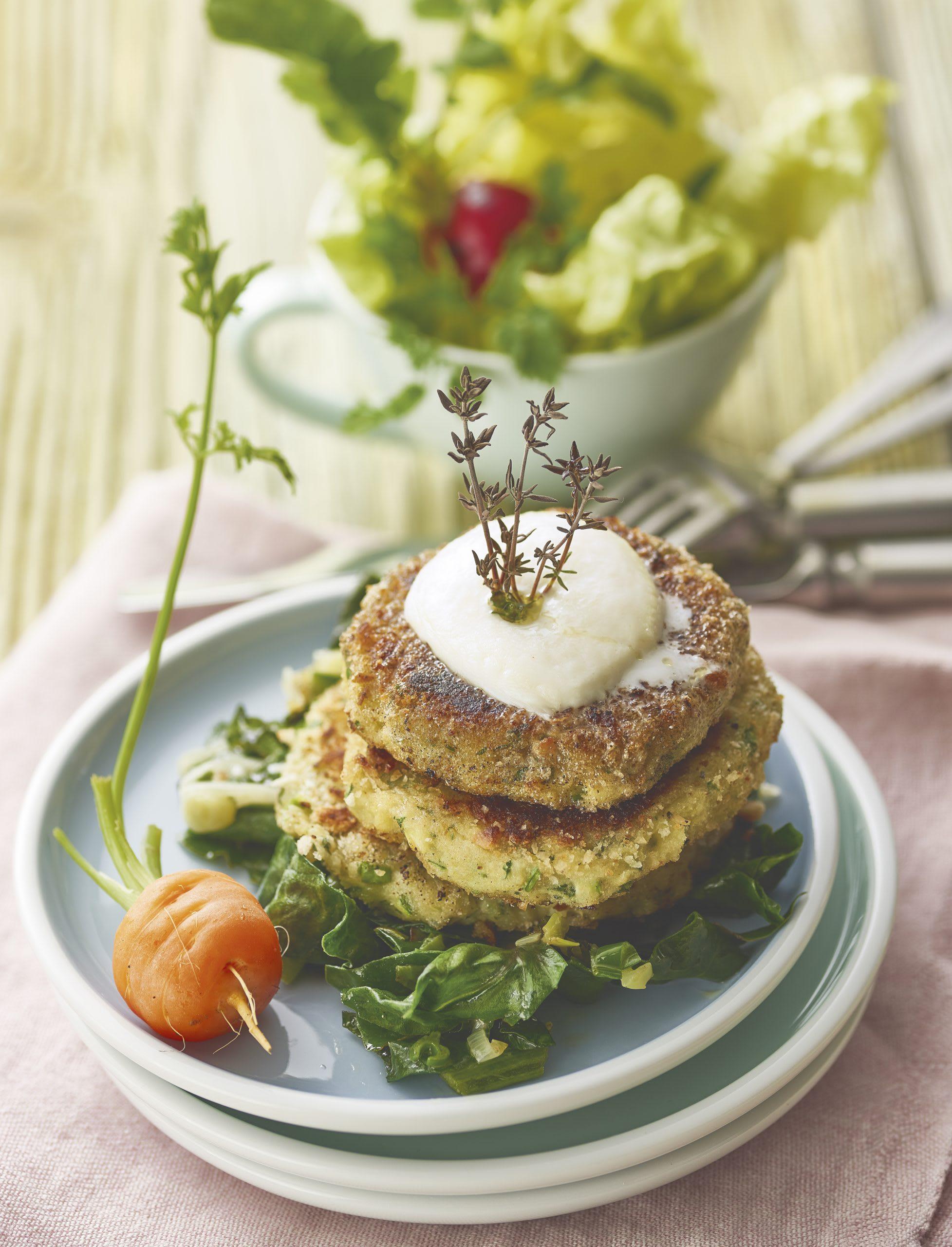 Kartoffeltätschli mit Mangold