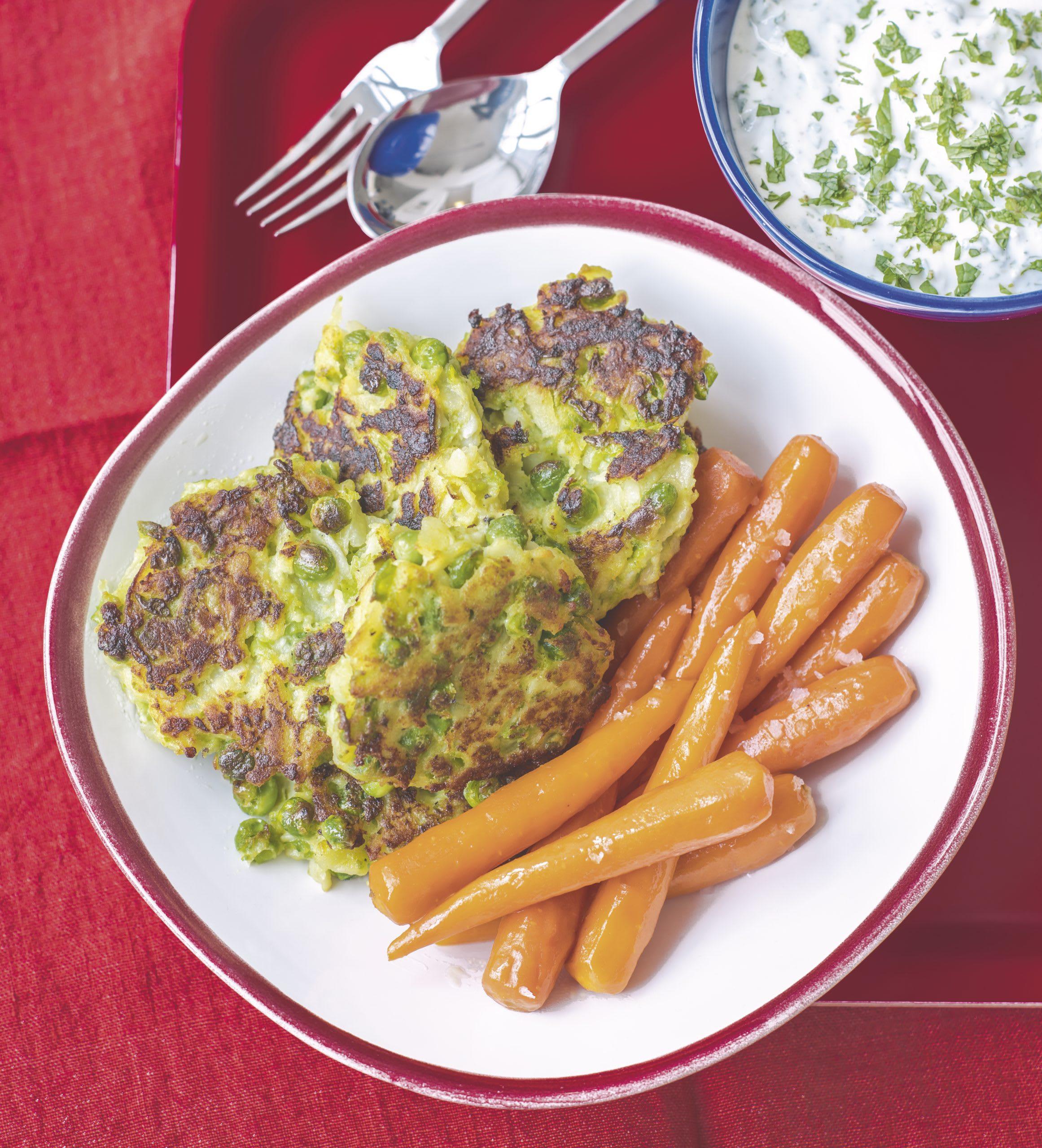 Kartoffeltätschli und Rüebli